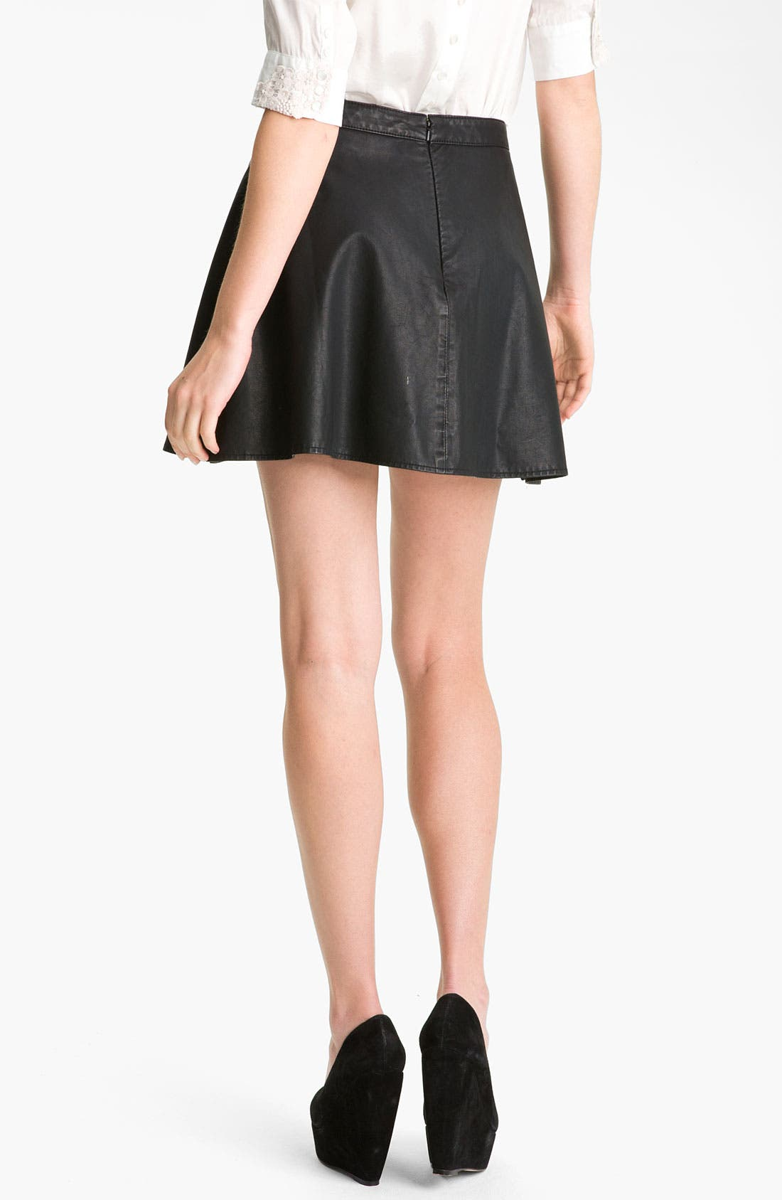 Alternate Image 2  - Free People Faux Leather Skirt