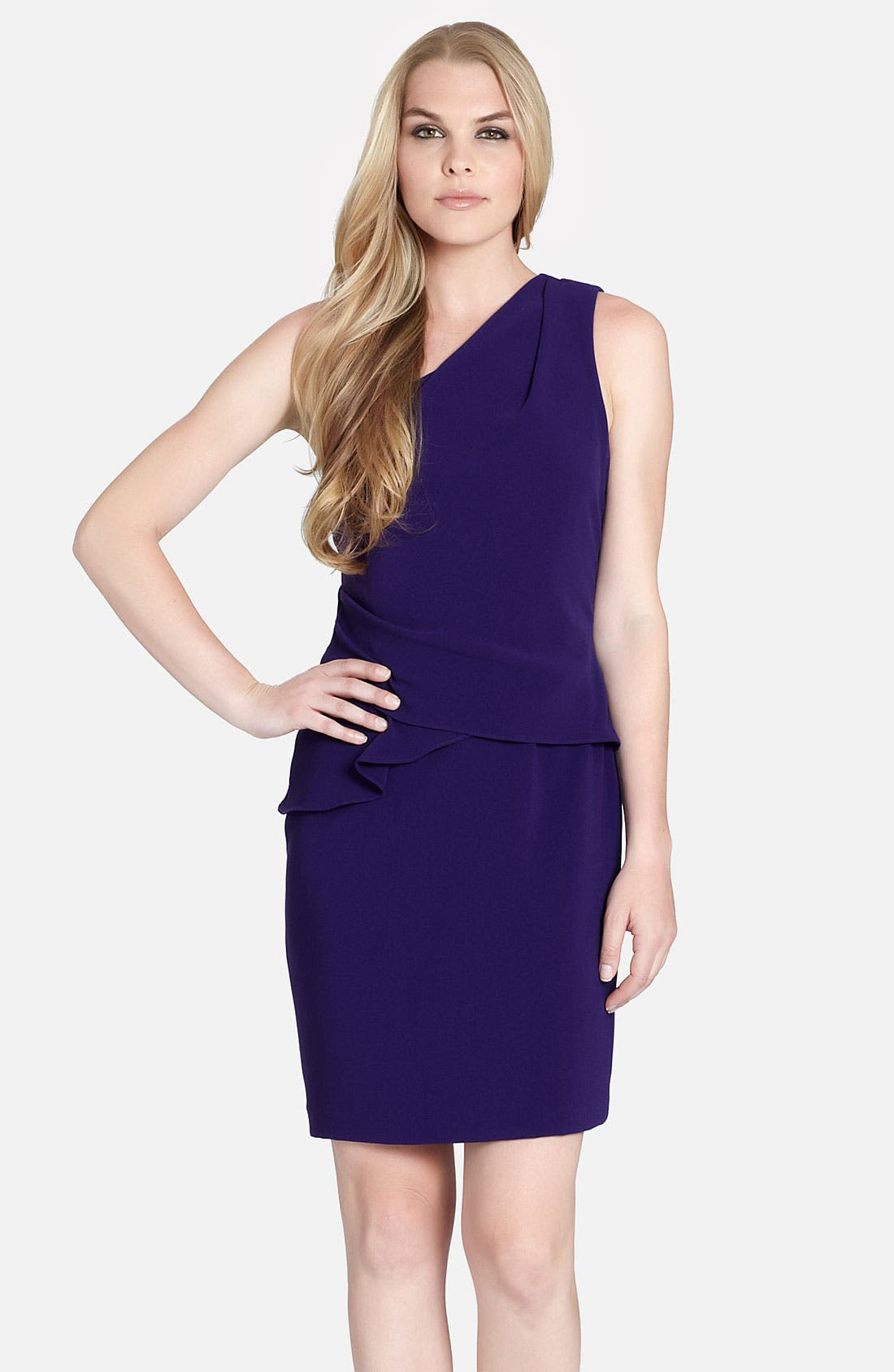 Alternate Image 1 Selected - Cynthia Steffe 'Brielle' One Shoulder Side Peplum Dress
