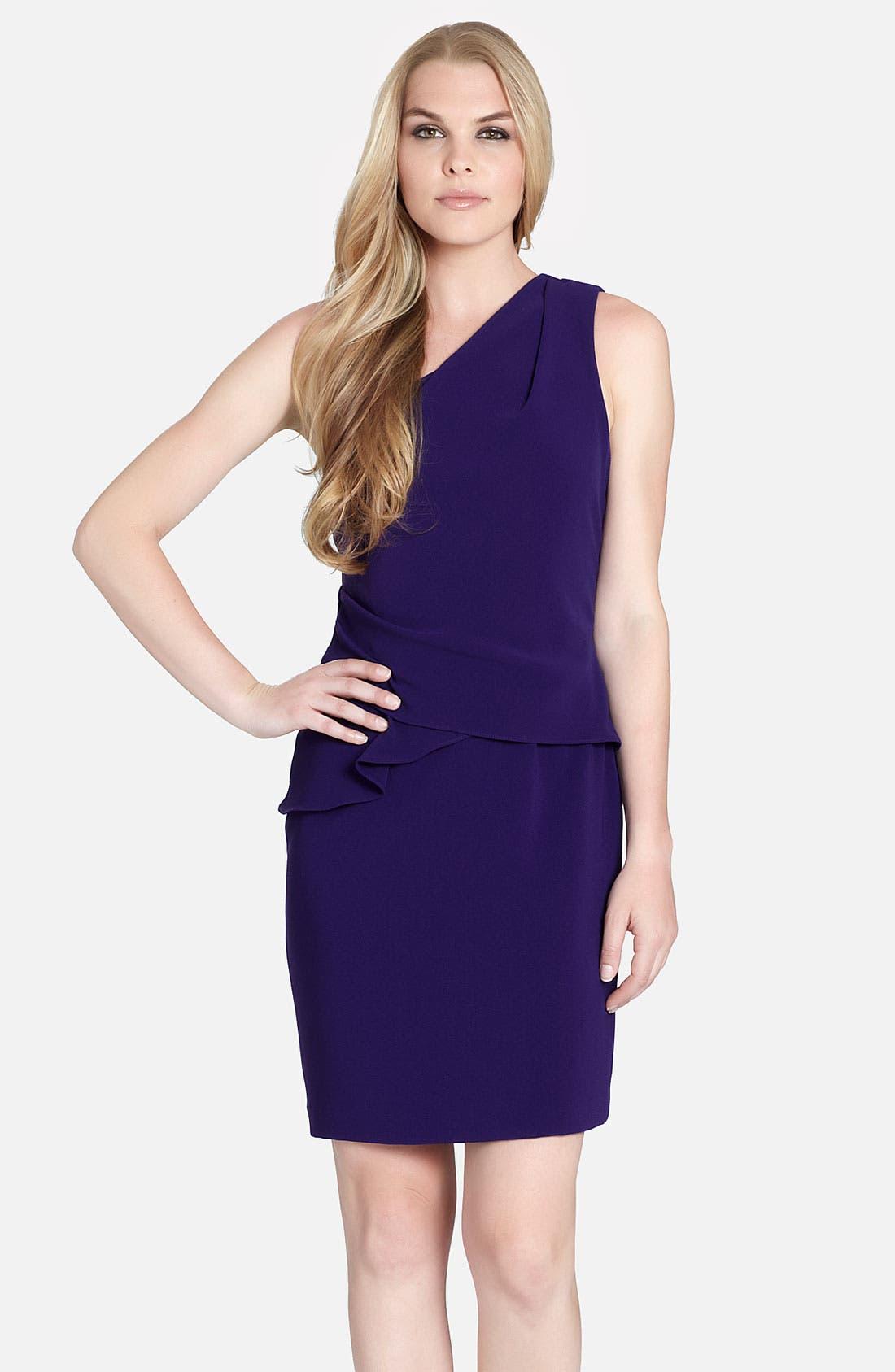 Main Image - Cynthia Steffe 'Brielle' One Shoulder Side Peplum Dress