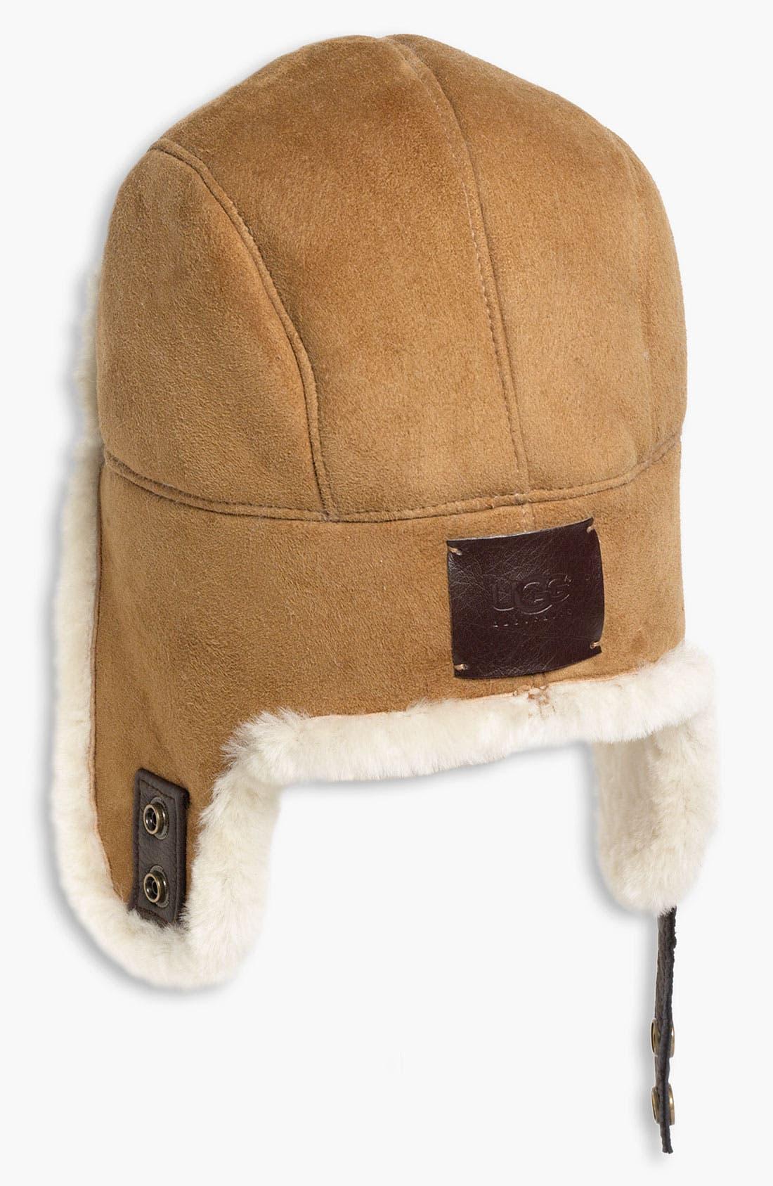 Alternate Image 2  - UGG® Australia Genuine Shearling Trapper Hat