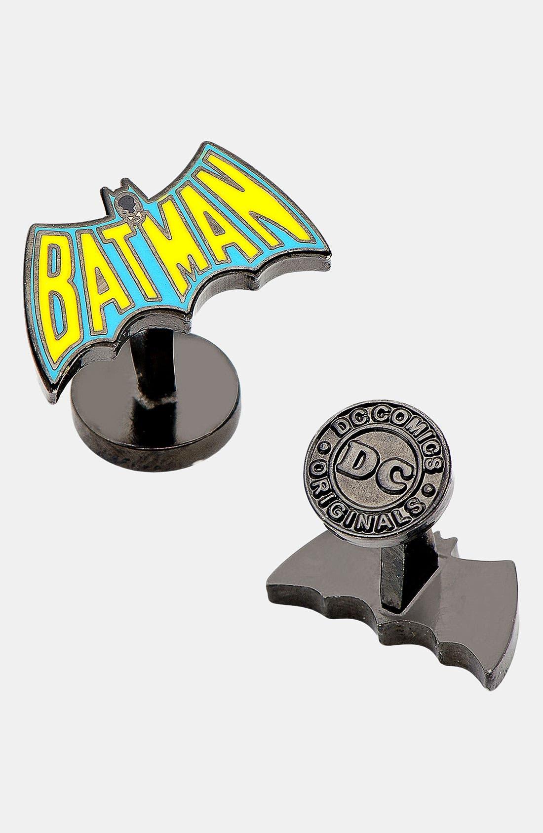 Alternate Image 1 Selected - Cufflinks, Inc. 'Vintage Batman Logo' Cuff Links