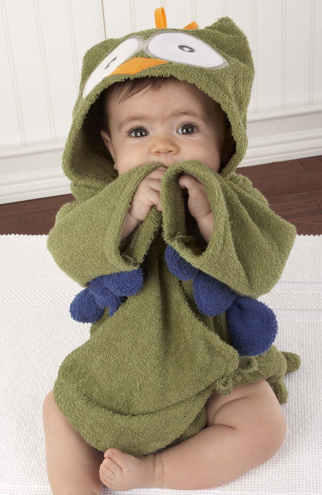 Alternate Image 2  - Baby Aspen 'My Little Night Owl' Terry Cloth Robe (Infant)