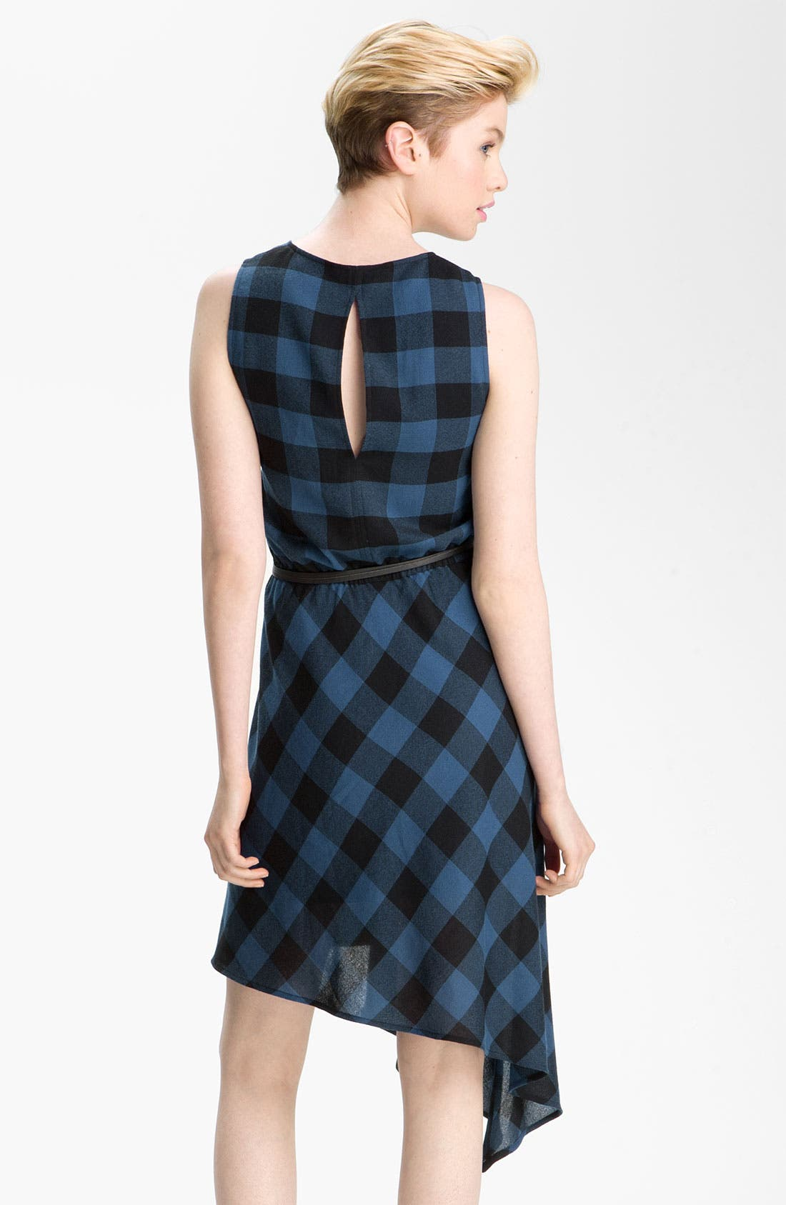 Alternate Image 2  - Trouvé Assymetrical Buffalo Plaid Dress