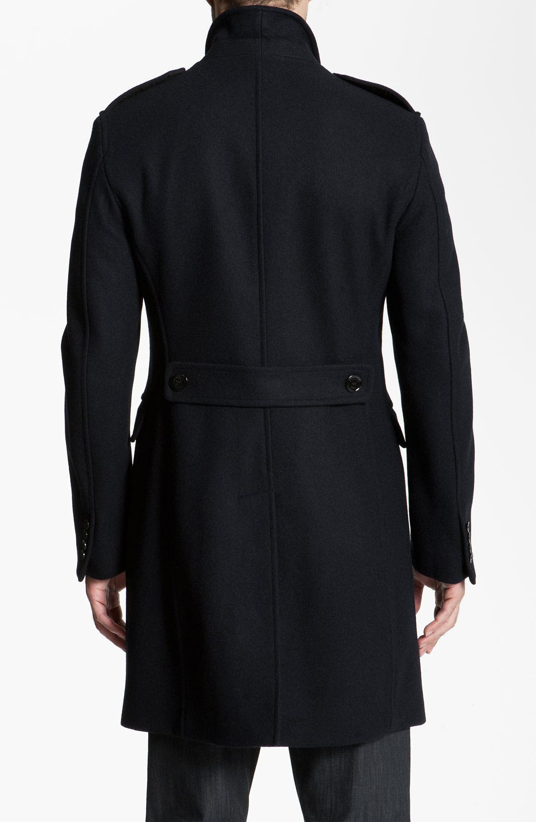 Alternate Image 2  - Burberry Brit Wool Blend Trim Fit Trench Coat