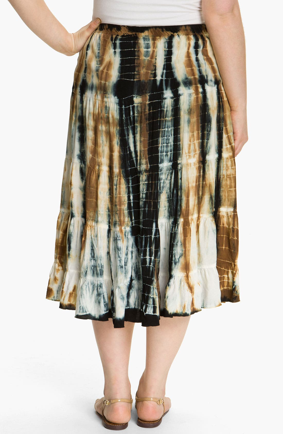 Alternate Image 2  - Karen Kane Tie Dye Tiered Skirt (Plus)