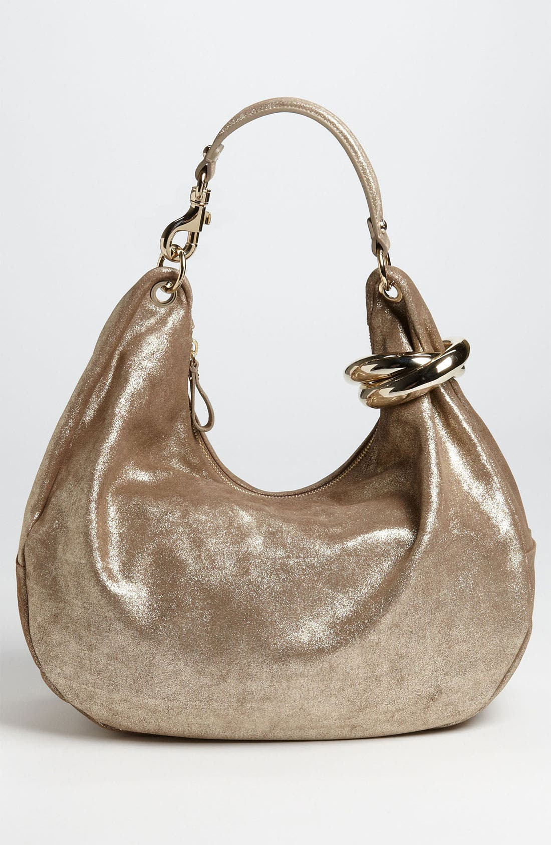 Alternate Image 4  - Jimmy Choo 'Solar - Large' Metallic Leather Hobo