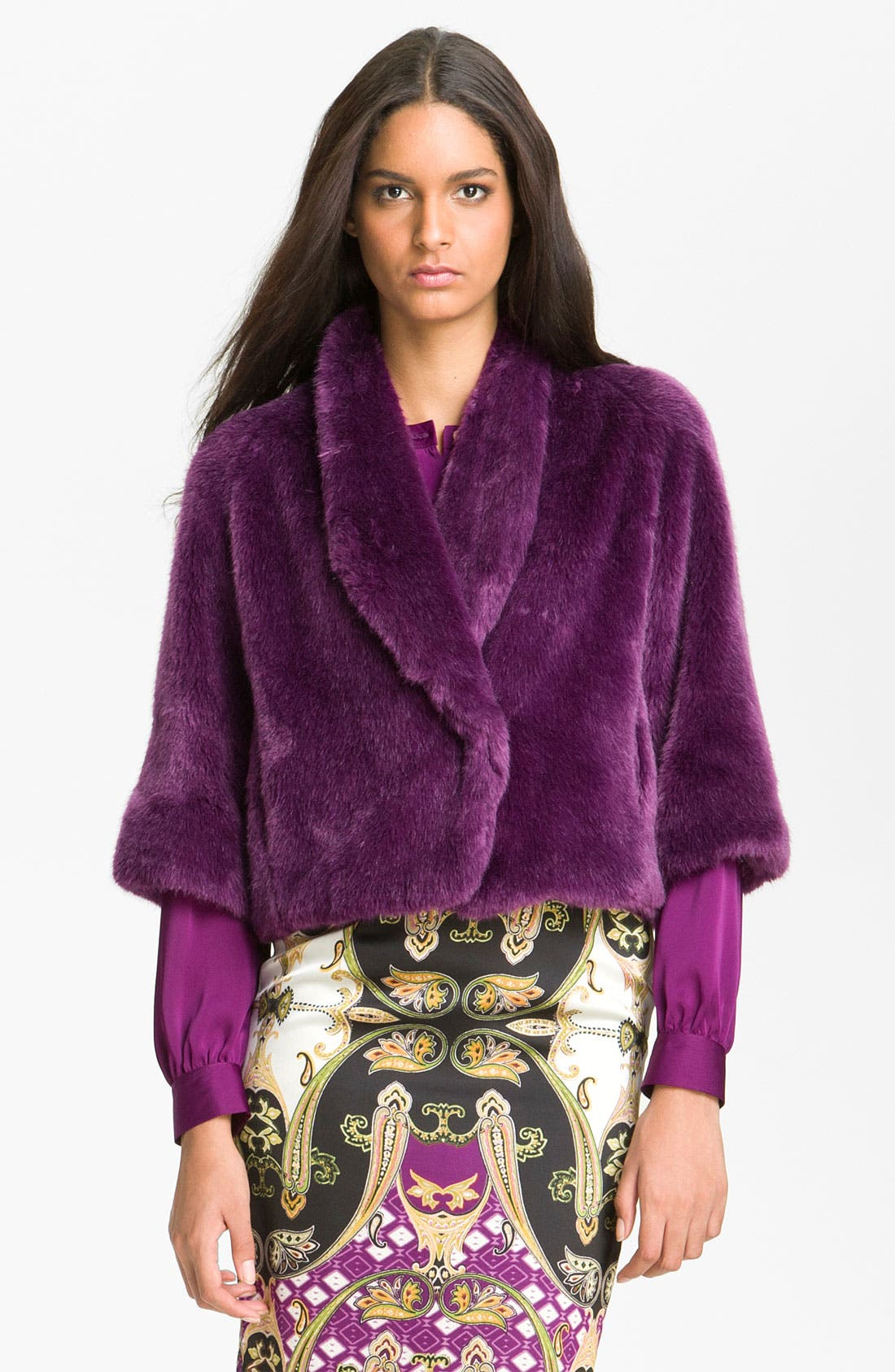 Alternate Image 1 Selected - Vince Camuto Faux Fur Crop Jacket