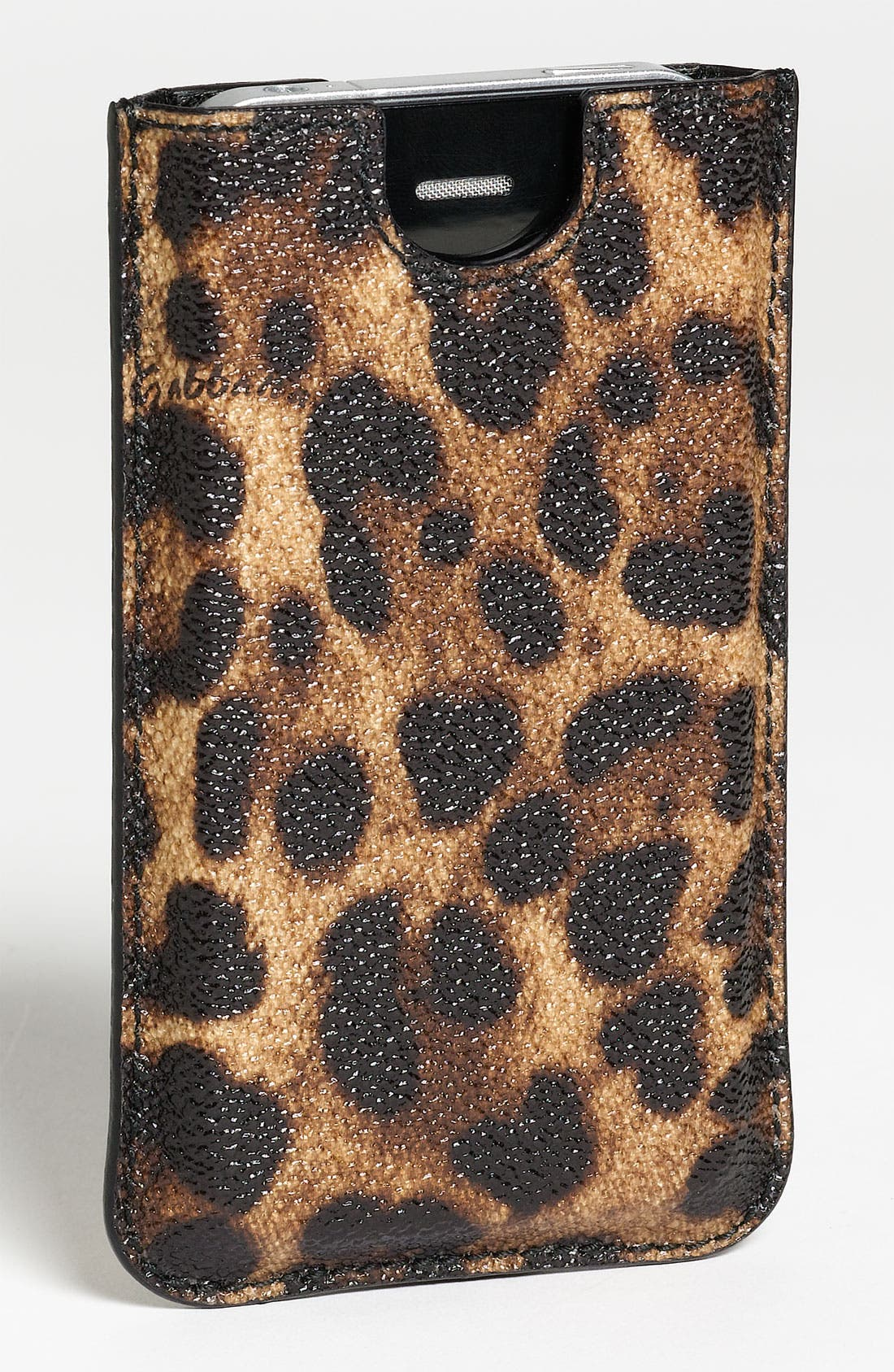 iPhone Sleeve,                         Main,                         color, Brown Leopard Print