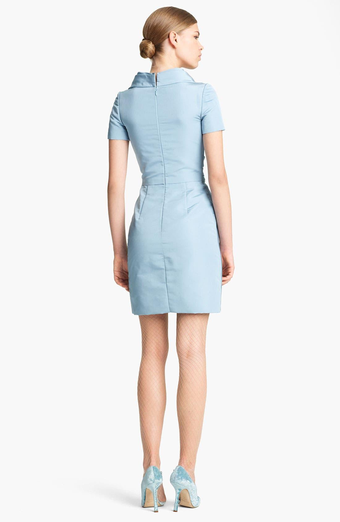 Alternate Image 2  - Oscar de la Renta Silk Faille Dress