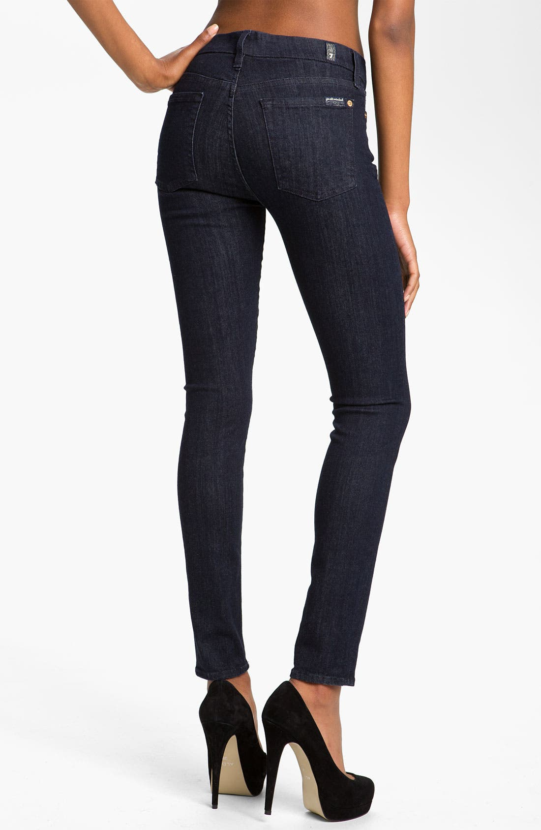 Alternate Image 2  - 7 For All Mankind® 'Slim Illusion' Skinny Stretch Jeans (Rinse)