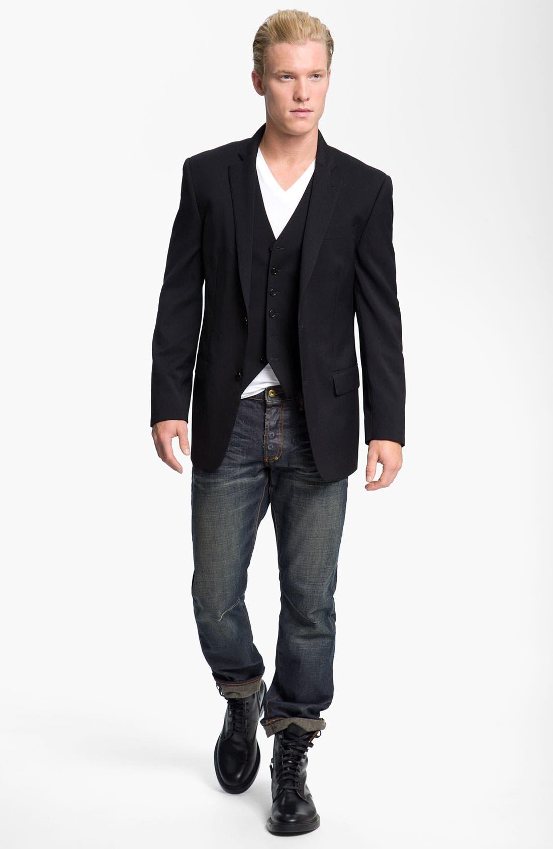 Alternate Image 4  - John Varvatos Star USA Wool Front Vest