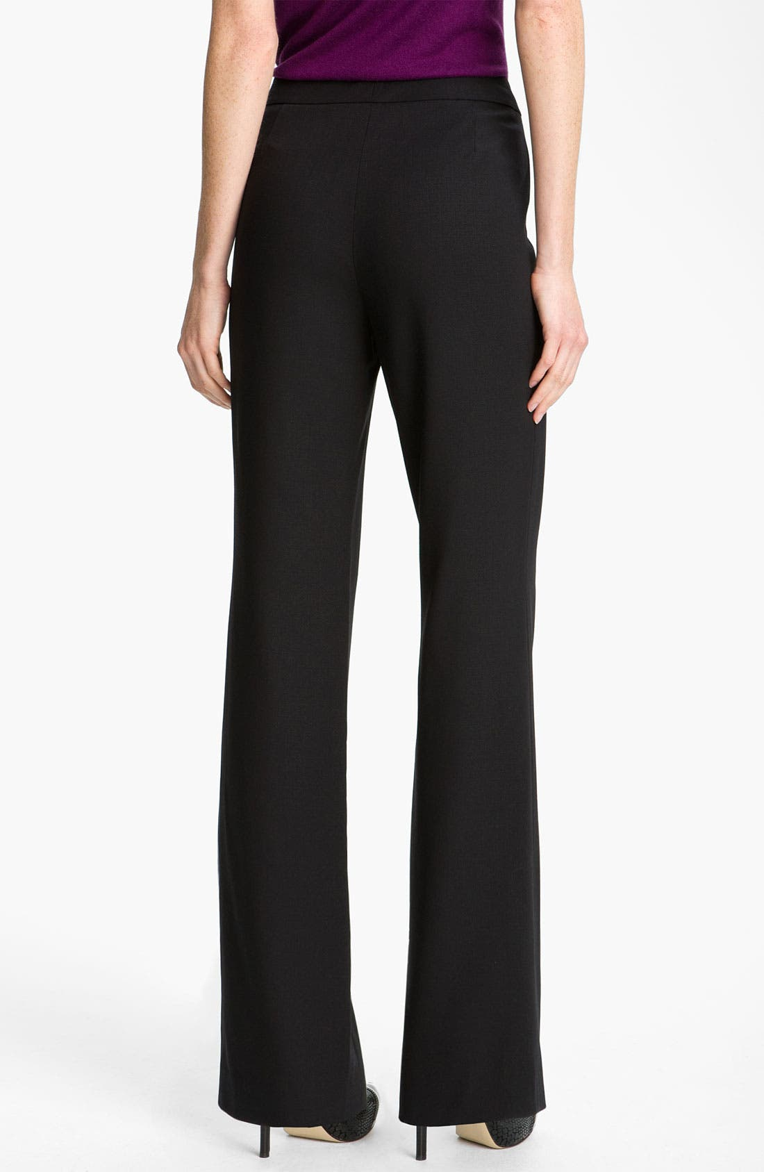 Alternate Image 2  - Magaschoni Stretch Wool Blend Pants