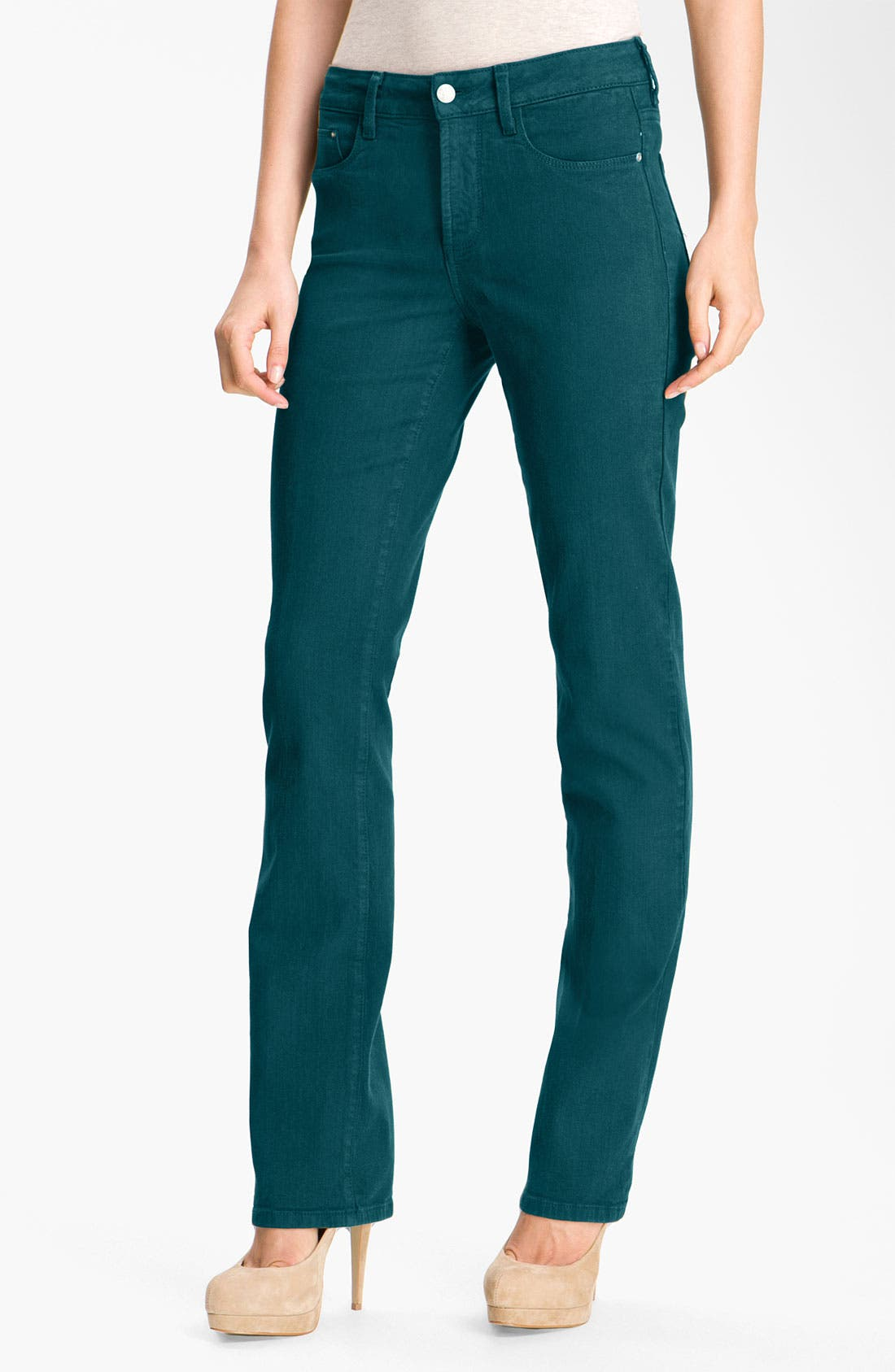 Alternate Image 1 Selected - NYDJ 'Marilyn' Colored Straight Leg Stretch Jeans