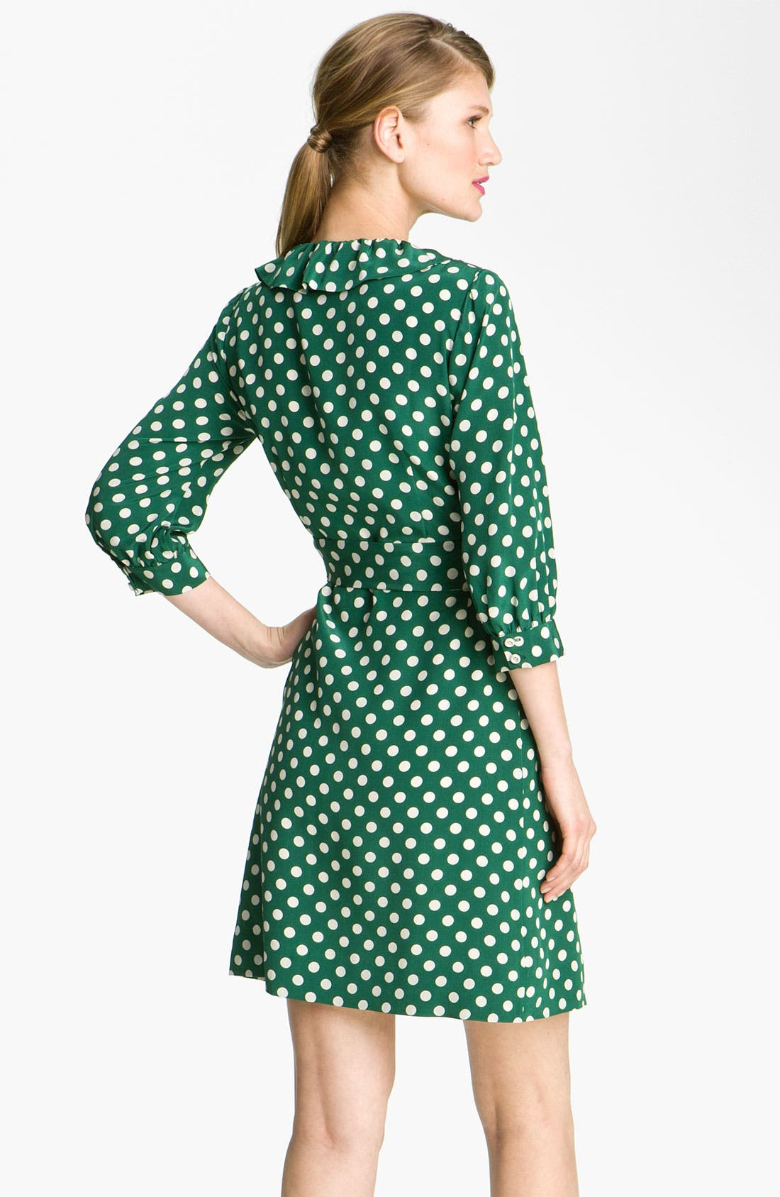 Alternate Image 2  - kate spade new york 'daniella' polka dot silk wrap dress