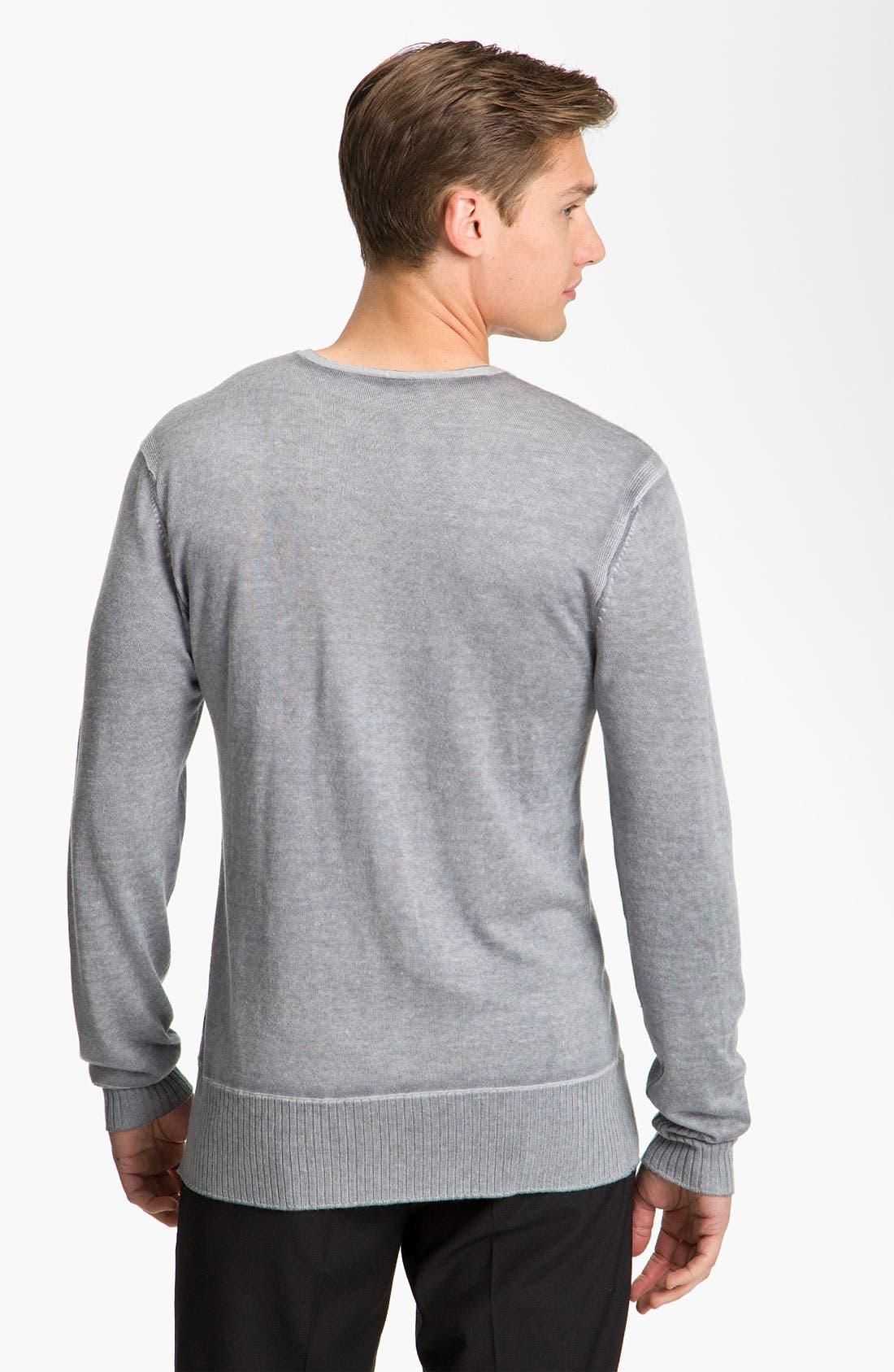 Alternate Image 2  - John Varvatos Collection V-Neck Sweater