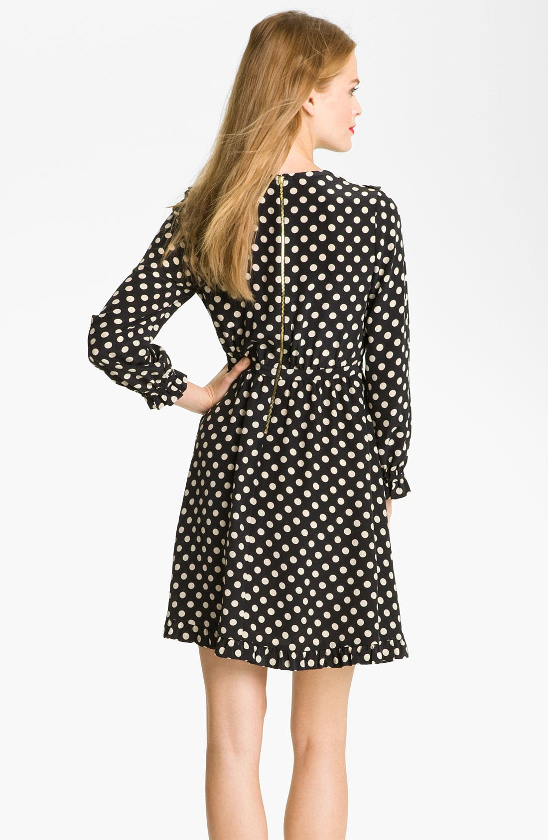 Alternate Image 2  - kate spade new york 'adelle' silk fit & flare dress