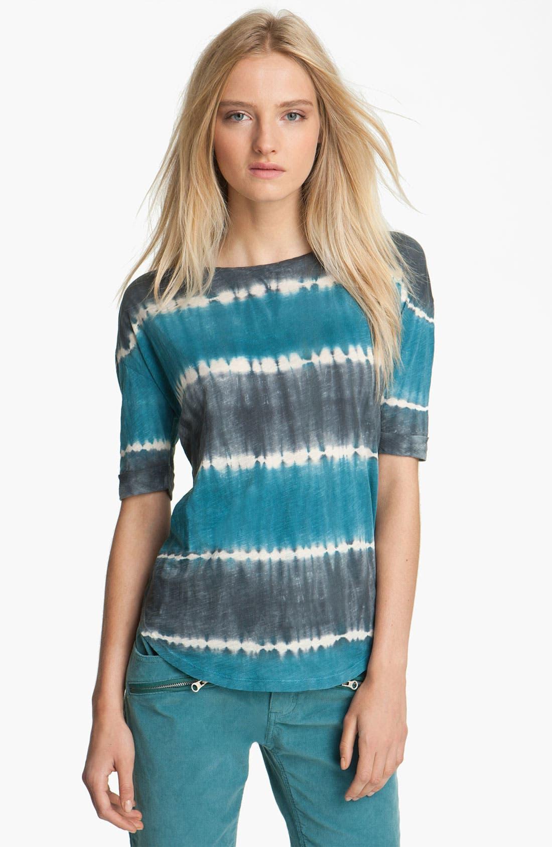Main Image - Zadig & Voltaire 'Axley' Tie Dye Stripe Tee