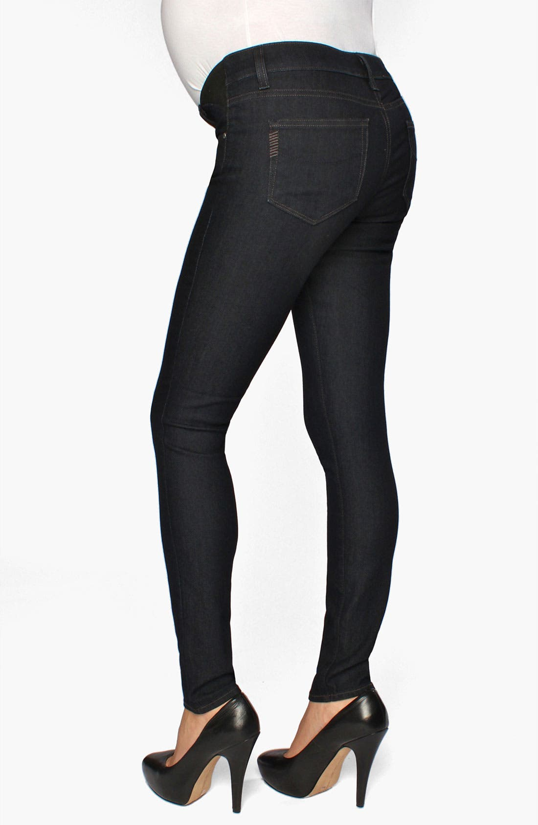 Alternate Image 1 Selected - Paige Denim 'Verdugo' Maternity Ultra Skinny Jeans (Twilight)