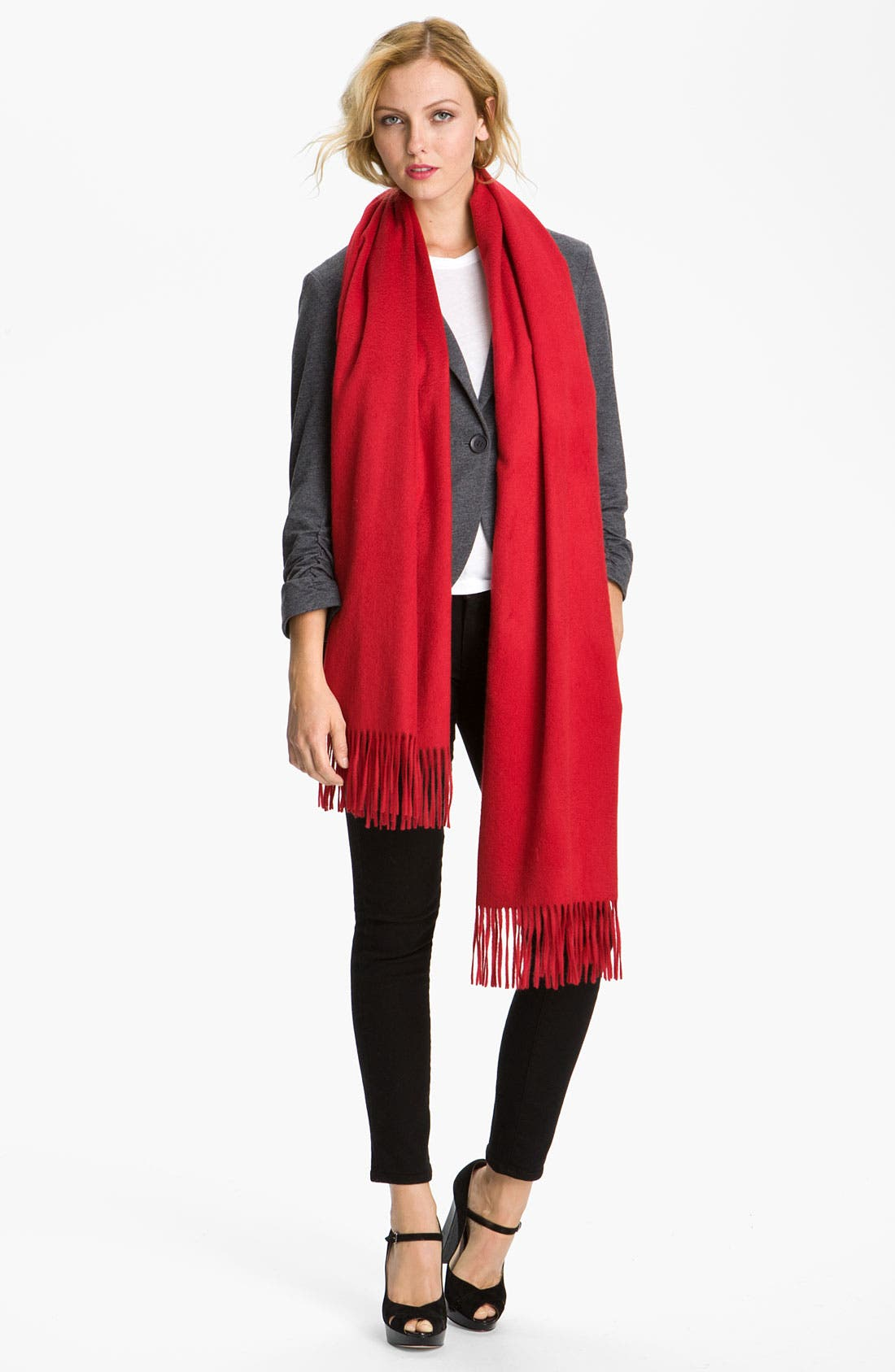 Alternate Image 1 Selected - Nordstrom Solid Cashmere Wrap