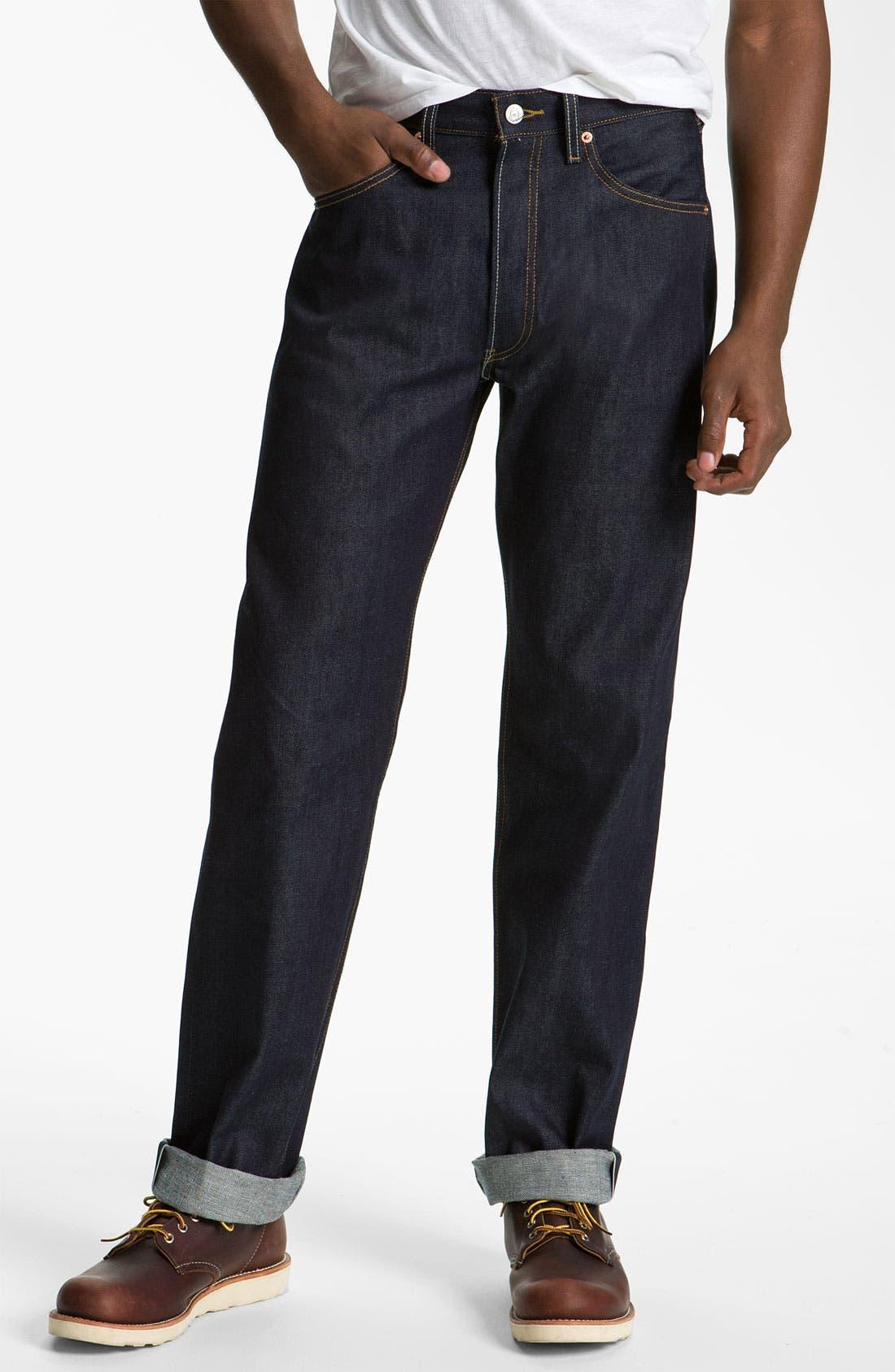 Alternate Image 2  - Levi's '501®' Straight Leg Jeans (Rigid Selvedge)