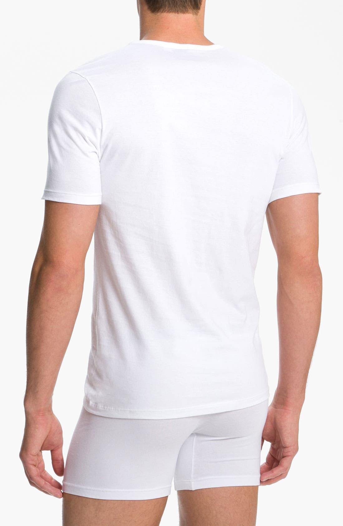 Alternate Image 2  - BOSS Black Crewneck T-Shirt (3-Pack)