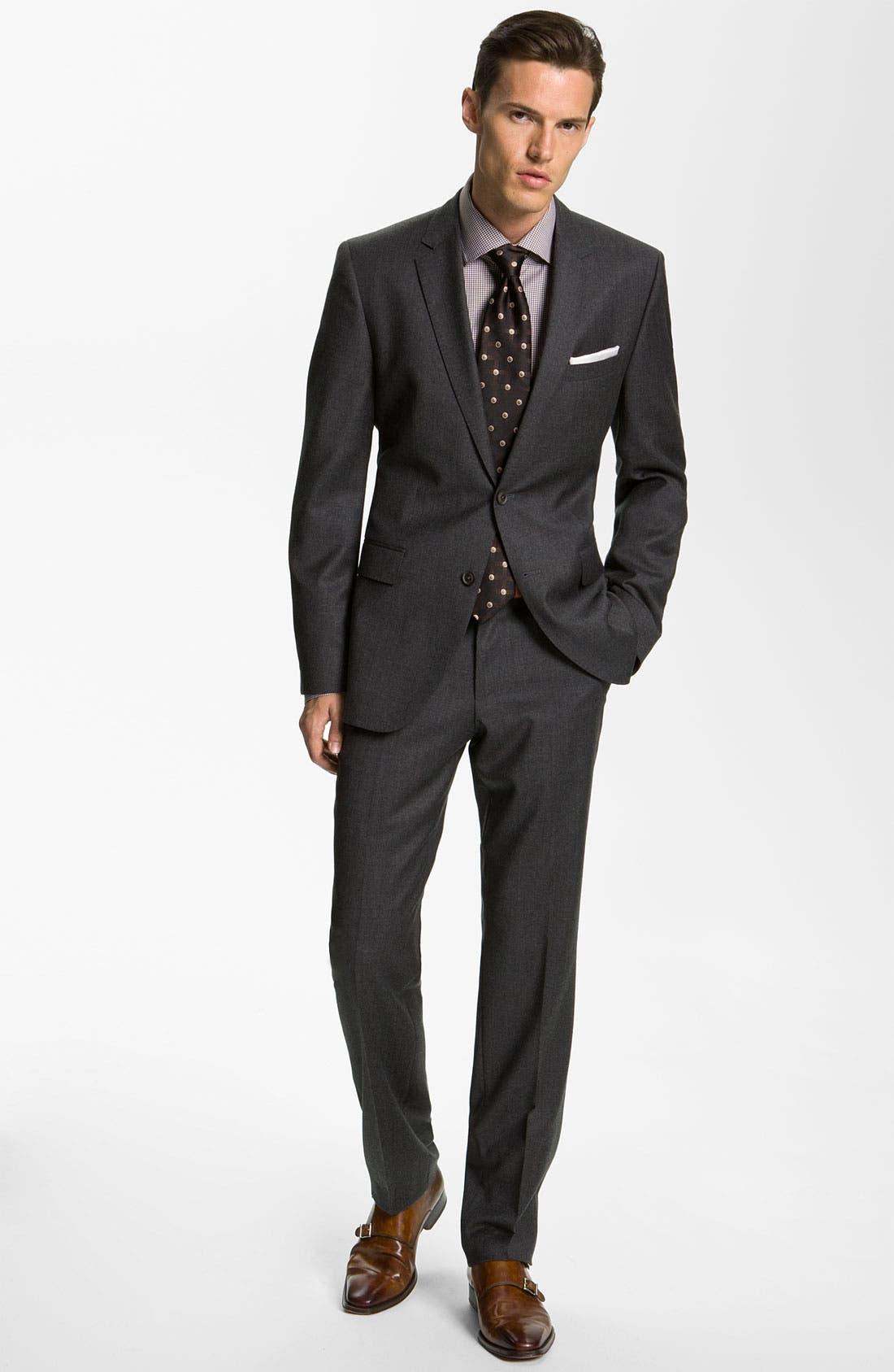 Alternate Image 2  - BOSS Black 'Key/Shaft' Trim Fit Suit