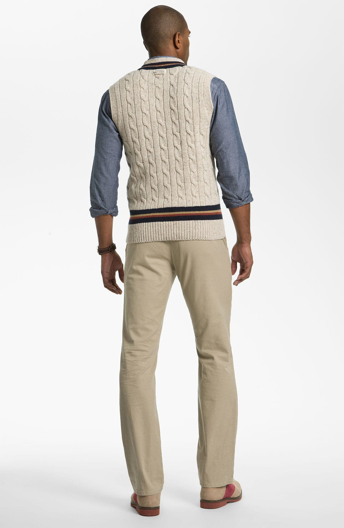 Alternate Image 5  - Fred Perry V-Neck Lambswool Sweater Vest