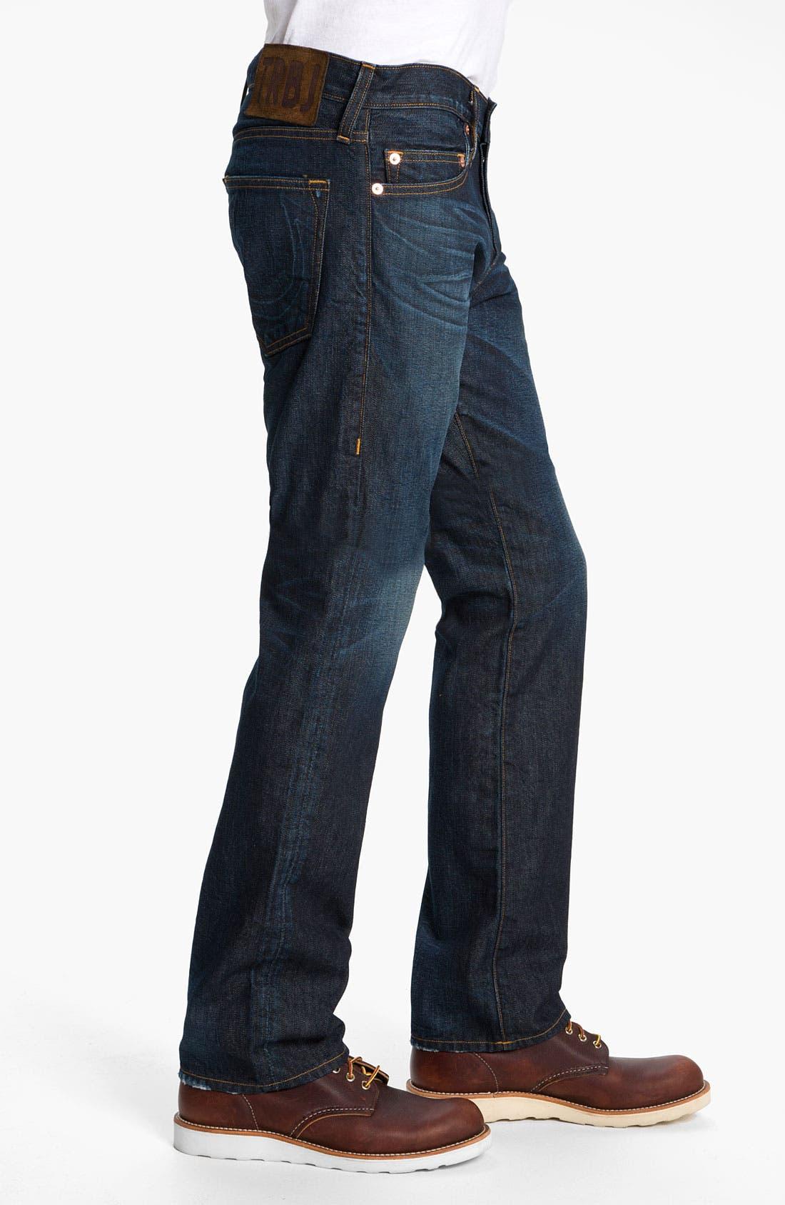 Alternate Image 3  - True Religion Brand Jeans 'Bobby 1971' Straight Leg Jeans (Ransom)