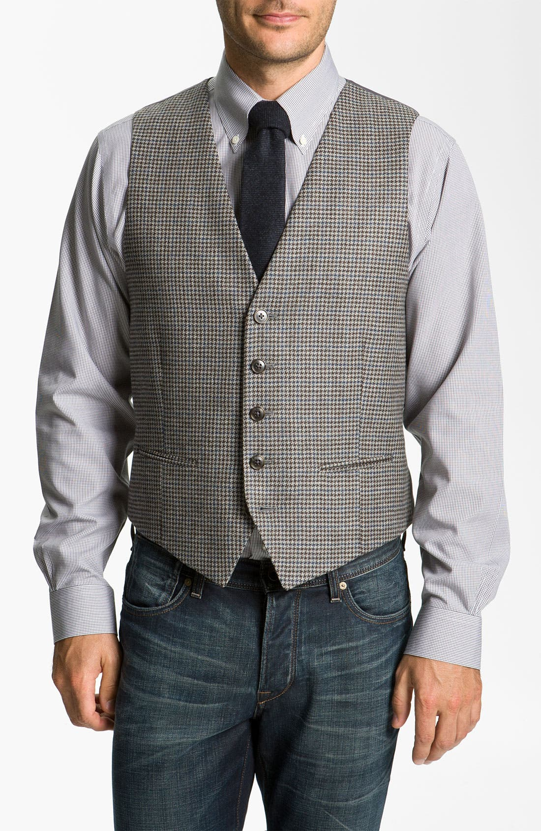 Alternate Image 1 Selected - John W. Nordstrom® Houndstooth Wool Vest