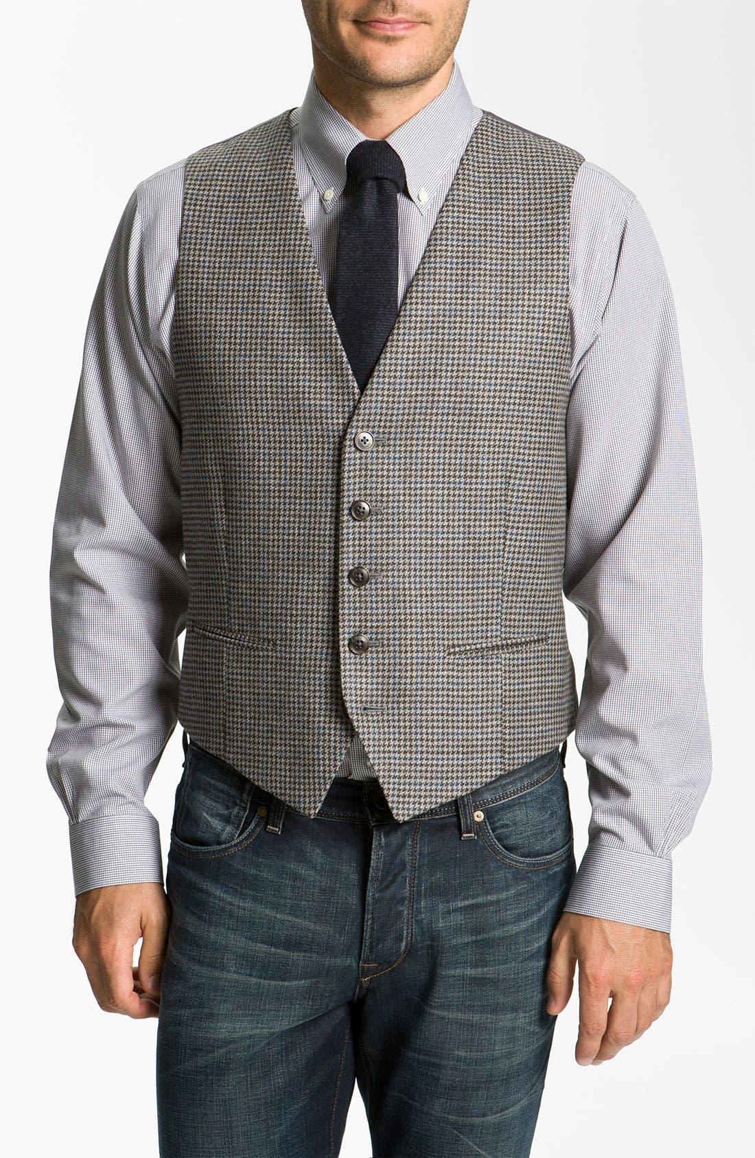Main Image - John W. Nordstrom® Houndstooth Wool Vest