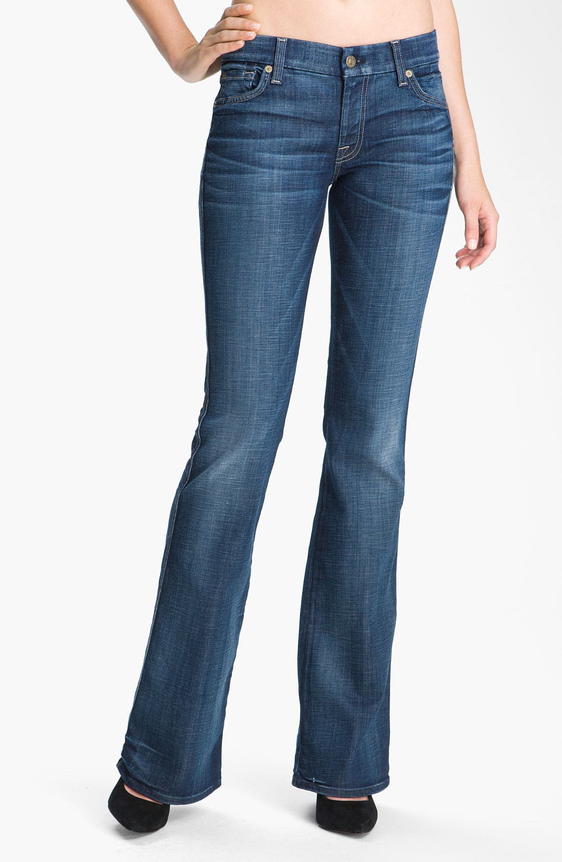 Main Image - 7 For All Mankind® 'A-Pocket' Bootcut Stretch Jeans (Royal Mountain Valley)