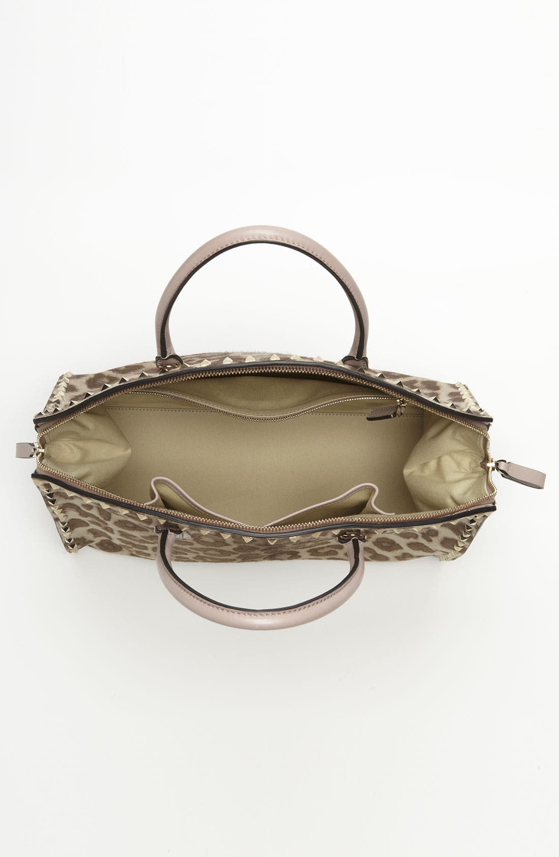 Alternate Image 3  - Valentino 'Rockstud' Calf Hair Dome Satchel