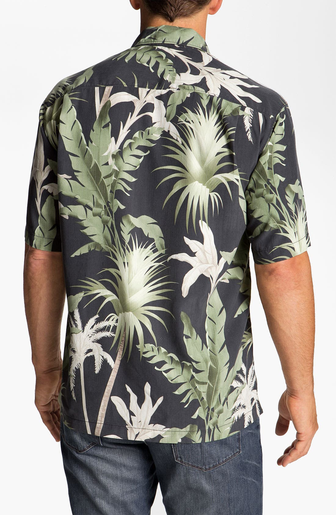 Alternate Image 2  - Tommy Bahama 'Major Palm' Silk Campshirt
