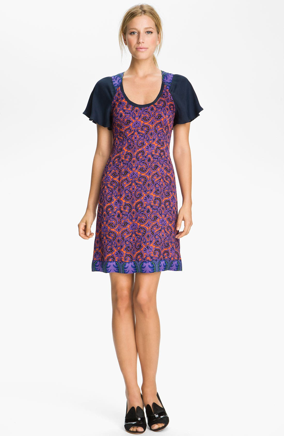 Alternate Image 1 Selected - Tracy Reese Mixed Print Foulard Dress
