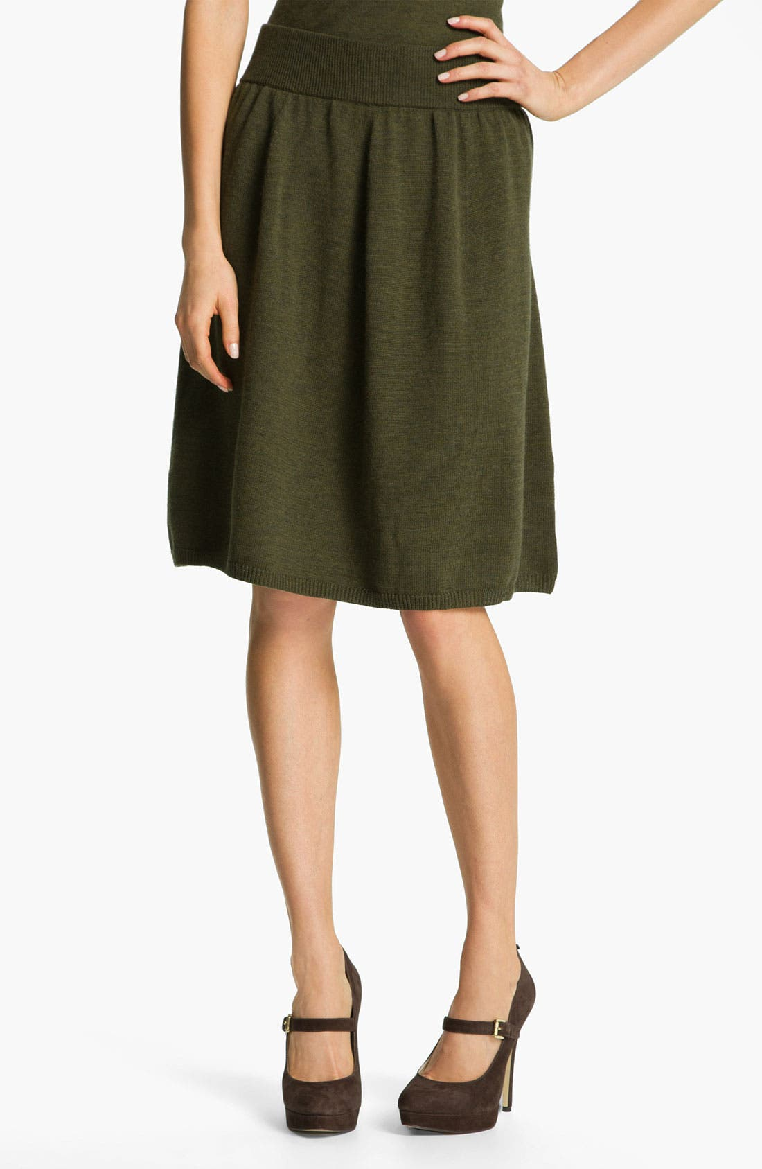 Alternate Image 1 Selected - Eileen Fisher Fine Merino Jersey A-Line Skirt