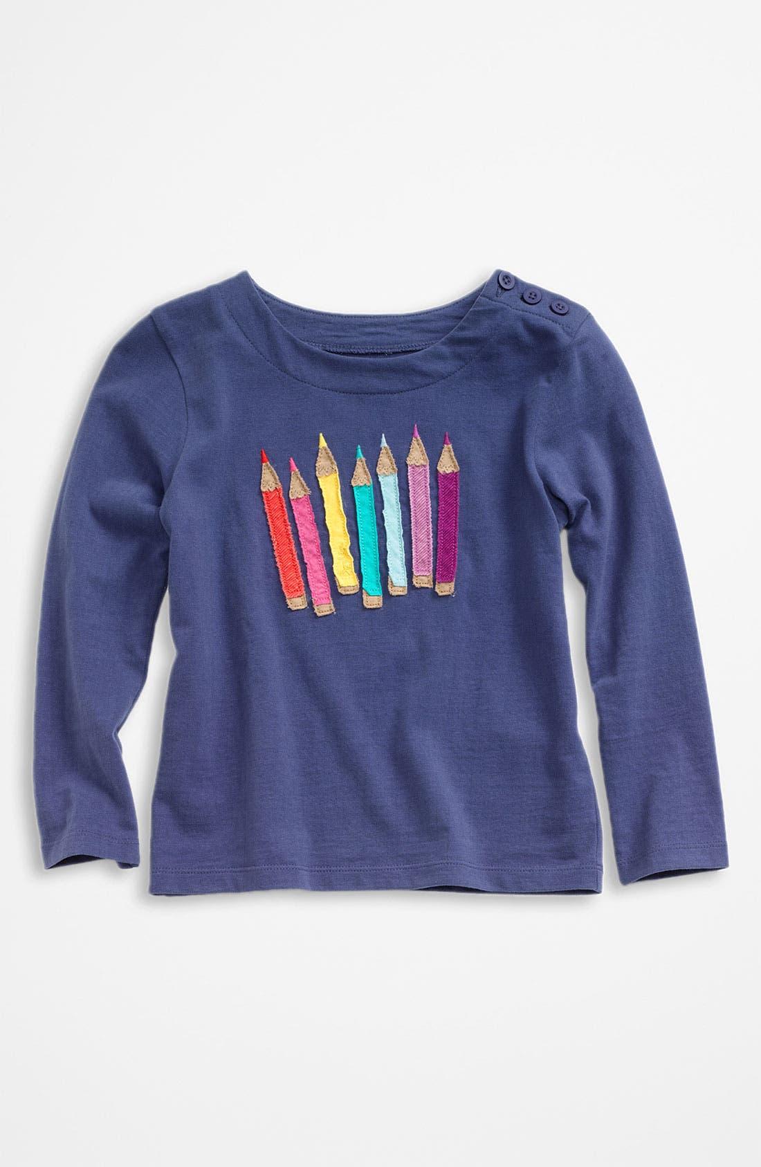 Main Image - Mini Boden 'Multi Crayon' Appliqué Tee (Toddler)