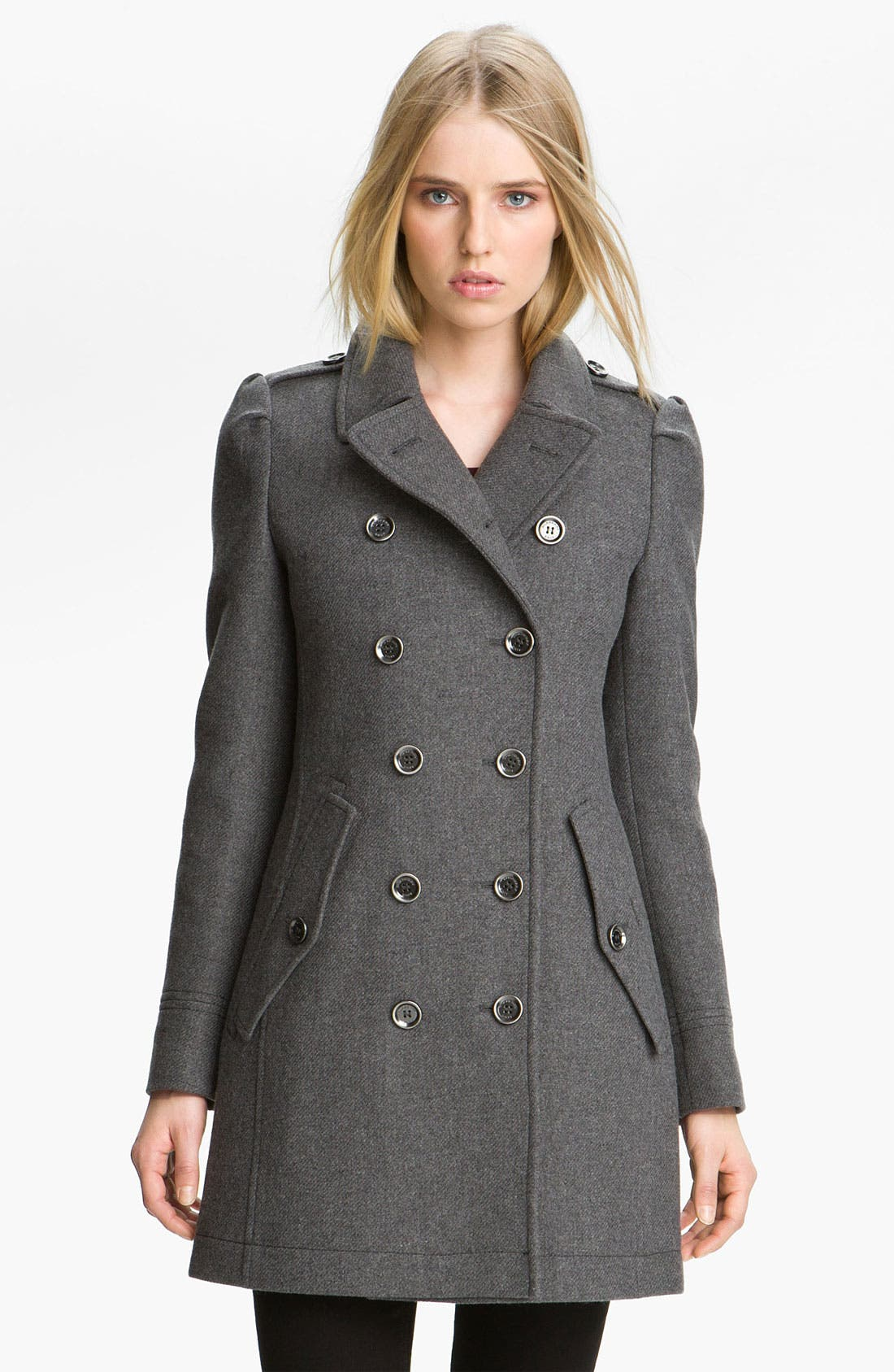 Alternate Image 1 Selected - Burberry Brit Wool Blend Coat