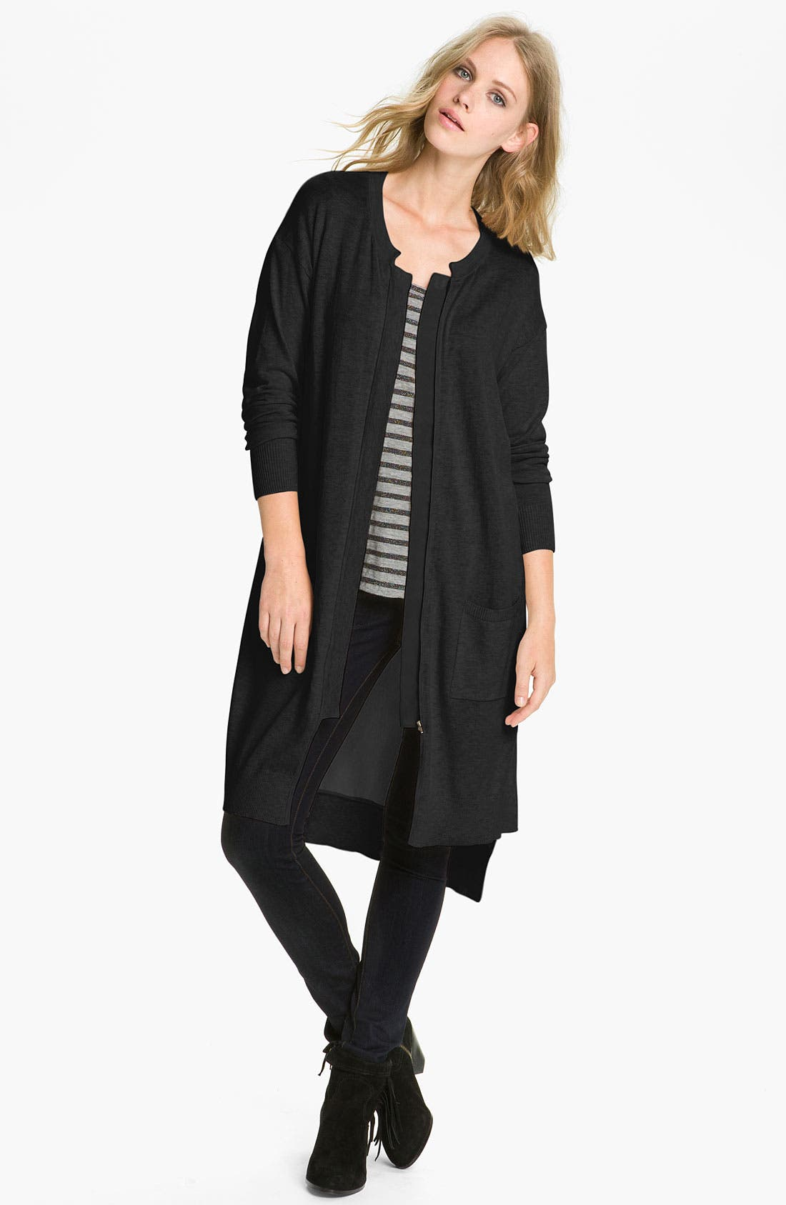 Main Image - Trouvé Chiffon Back Duster