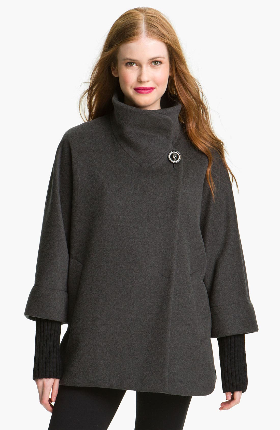 Main Image - Cinzia Rocca Knit Sleeve Wool Capelet