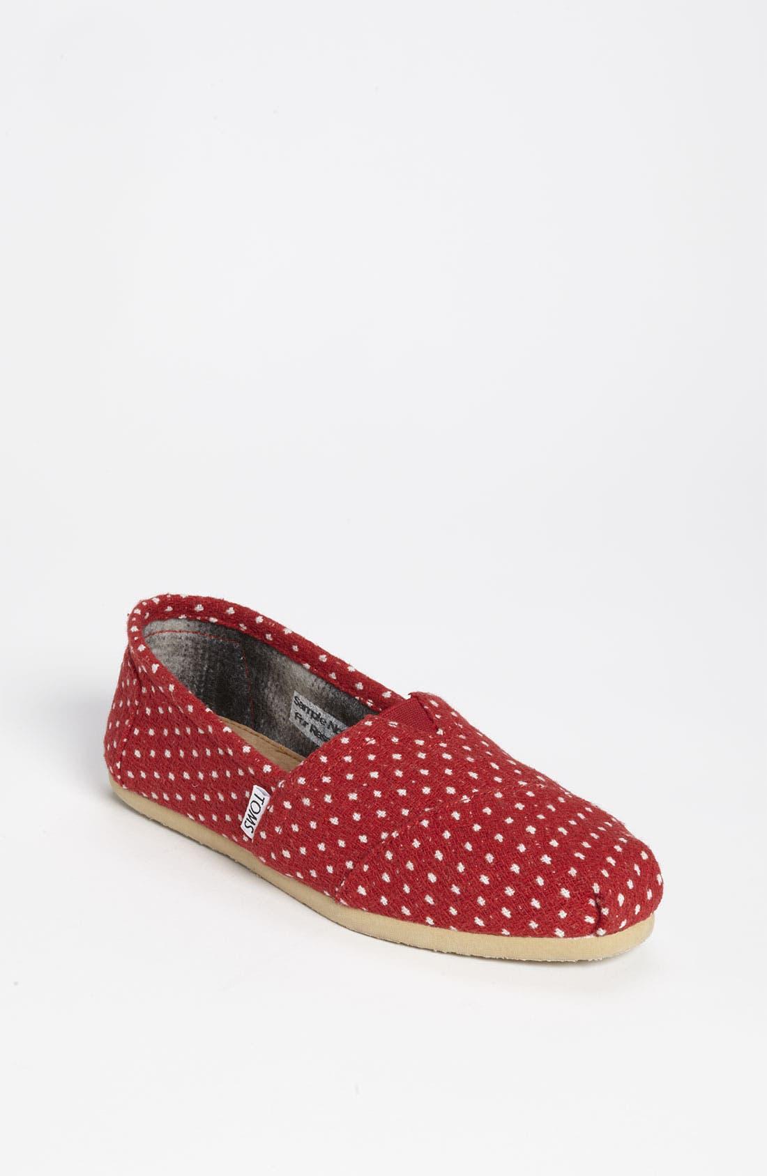 Main Image - TOMS 'Classic - Dot' Woolen Slip-On (Women)