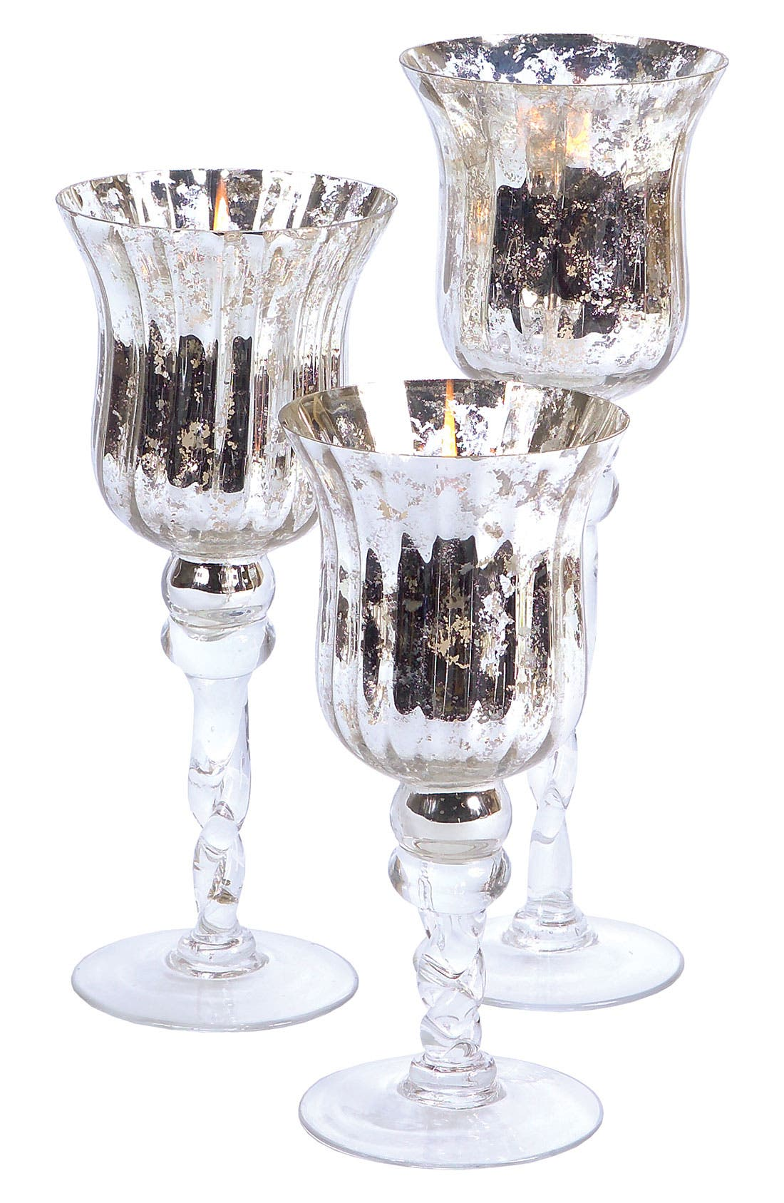 Alternate Image 1 Selected - Melrose Gifts Mercury Glass Candle Holder
