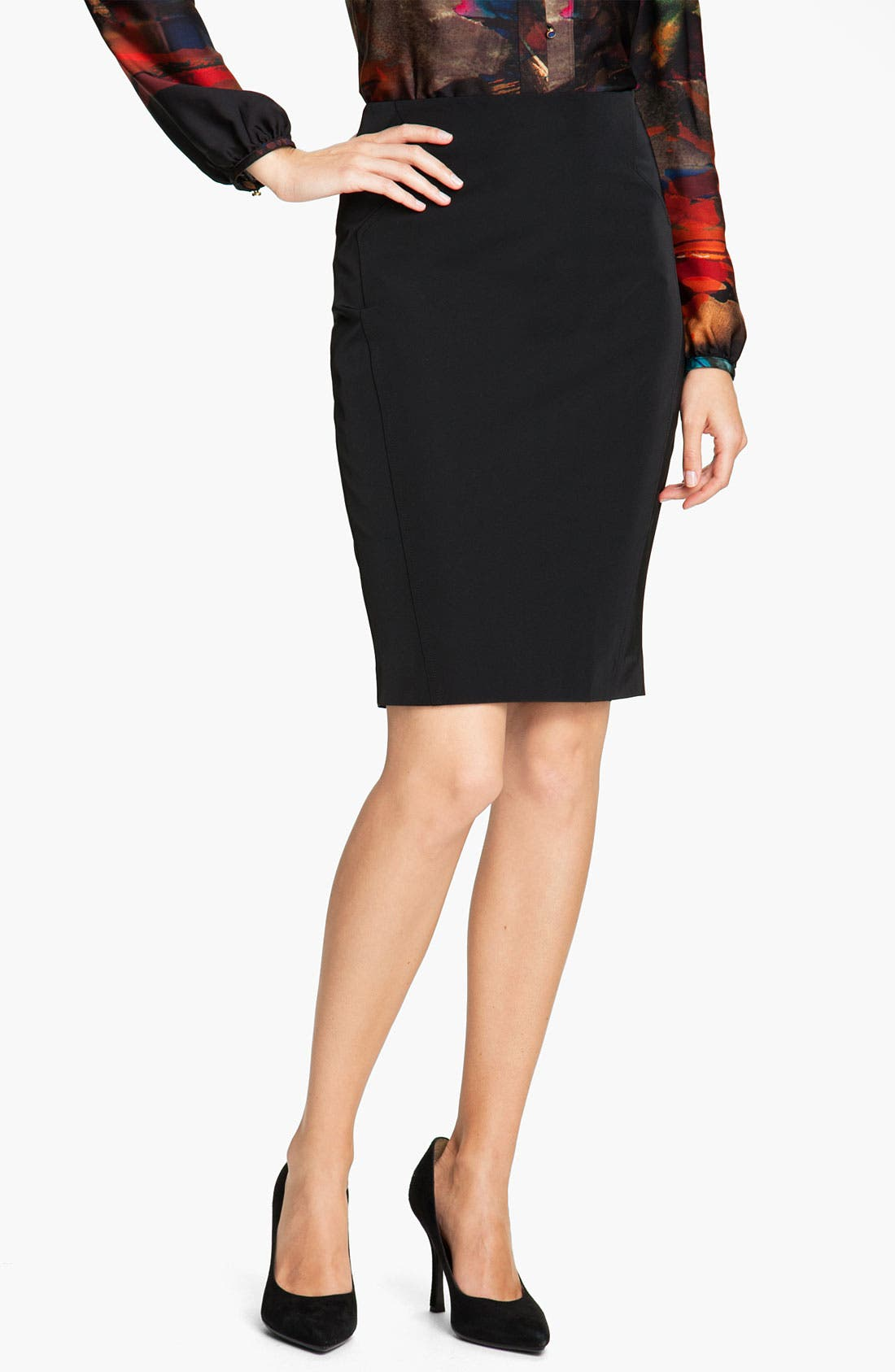 Alternate Image 1 Selected - Ted Baker London Techno Stretch Pencil Skirt