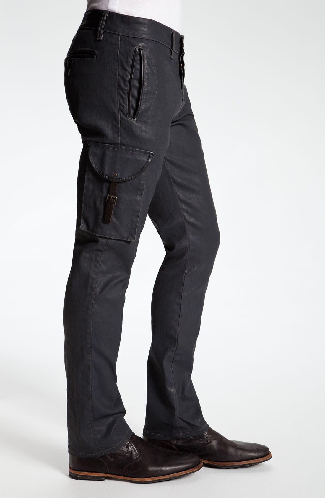 Alternate Image 3  - Madisonpark Collective Coated Slim Straight Leg Cargo Pants