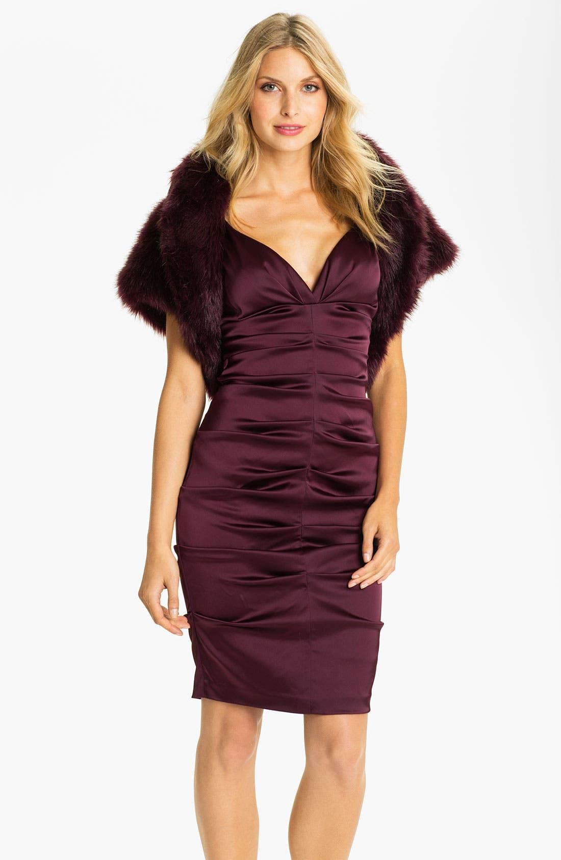Alternate Image 1 Selected - Eliza J Faux Fur Open Bolero