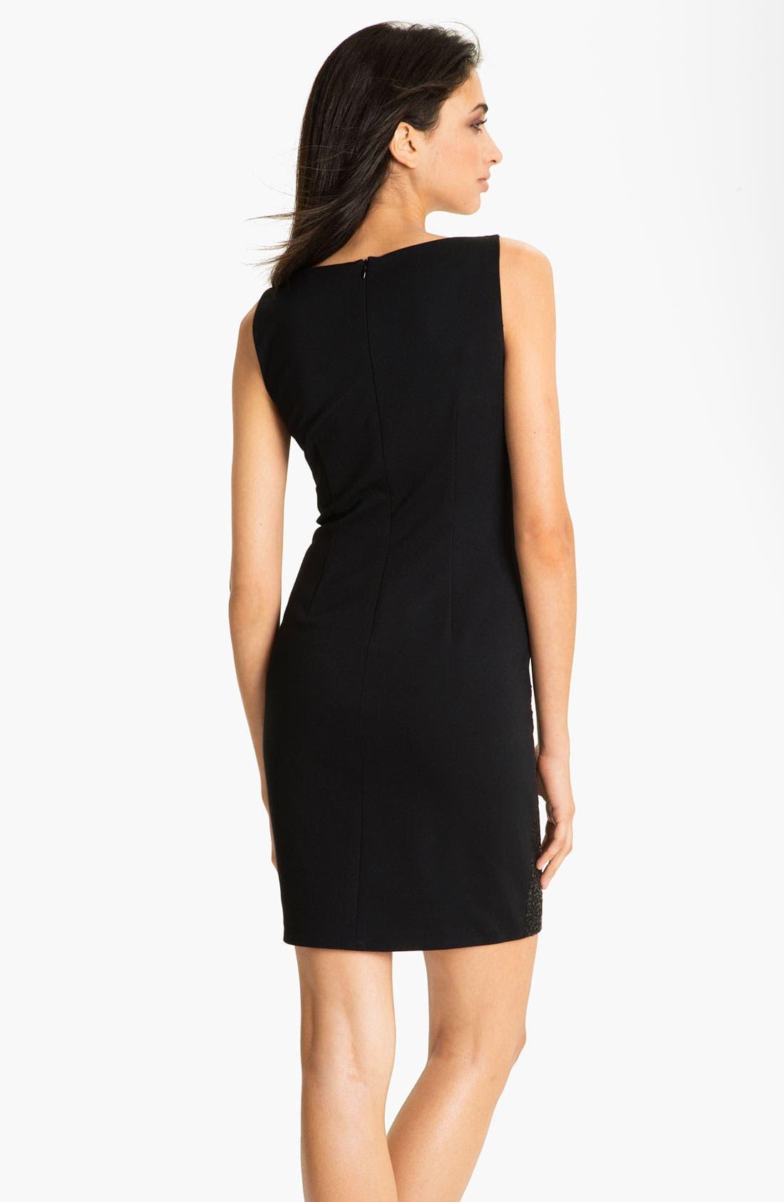 Alternate Image 2  - Suzi Chin for Maggy Boutique Sequin Ponte Sheath Dress