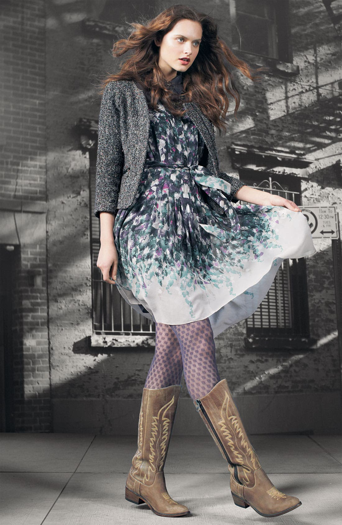 Alternate Image 4  - Suzi Chin for Maggy Boutique Collared Illusion Yoke Dress