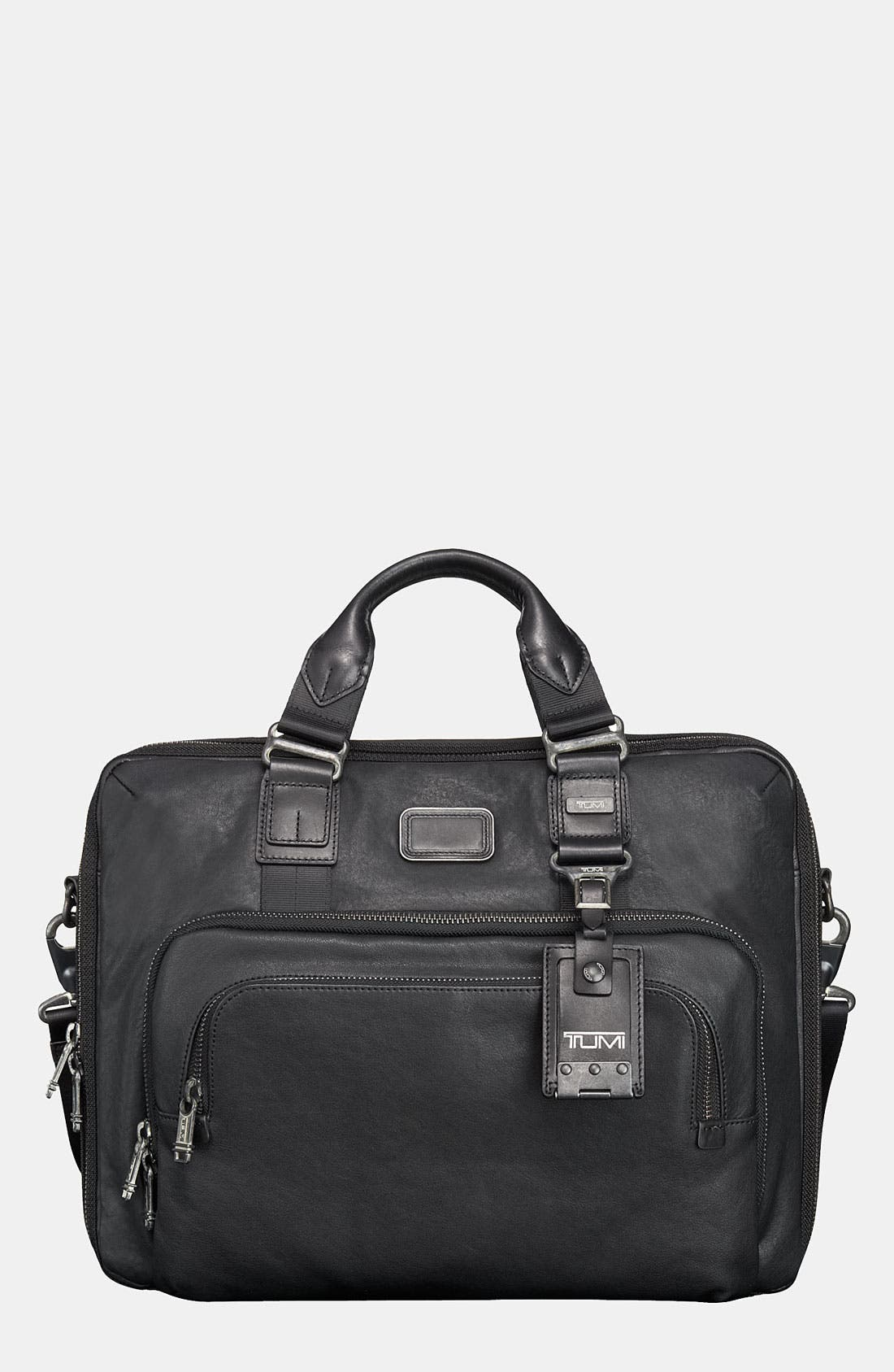 Main Image - Tumi 'Alpha Bravo - Yuma' Slim Leather Briefcase