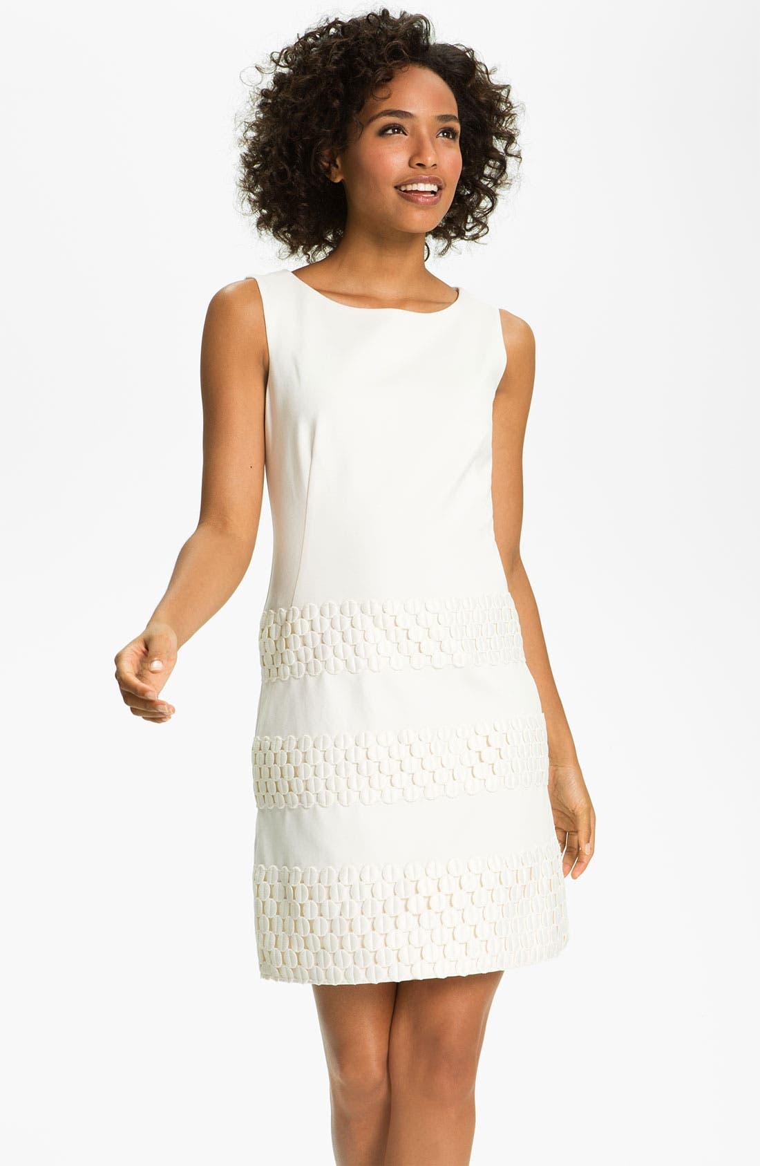 Alternate Image 1 Selected - Taylor Dresses Ponte Shift Dress
