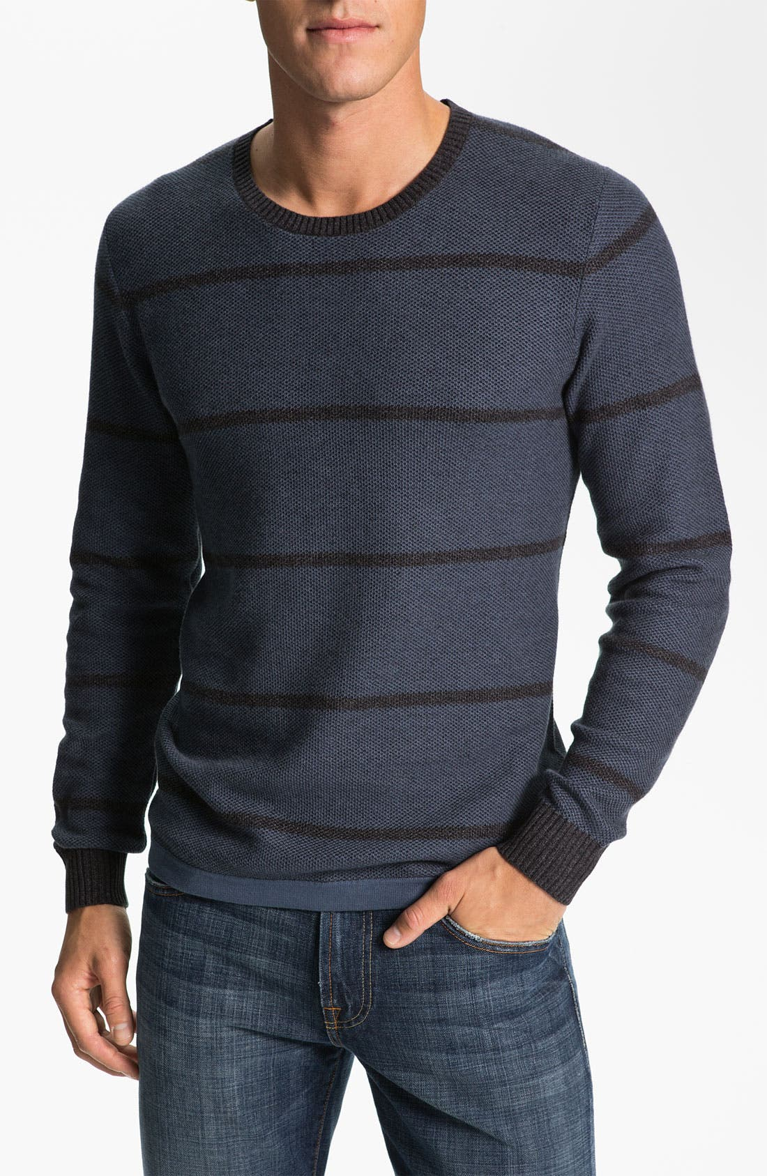 Alternate Image 1 Selected - 7 For All Mankind® Plaited Knit Sweater