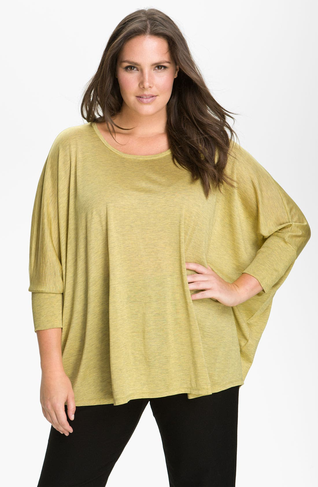 Main Image - Eileen Fisher Boxy Dolman Sleeve Top (Plus)